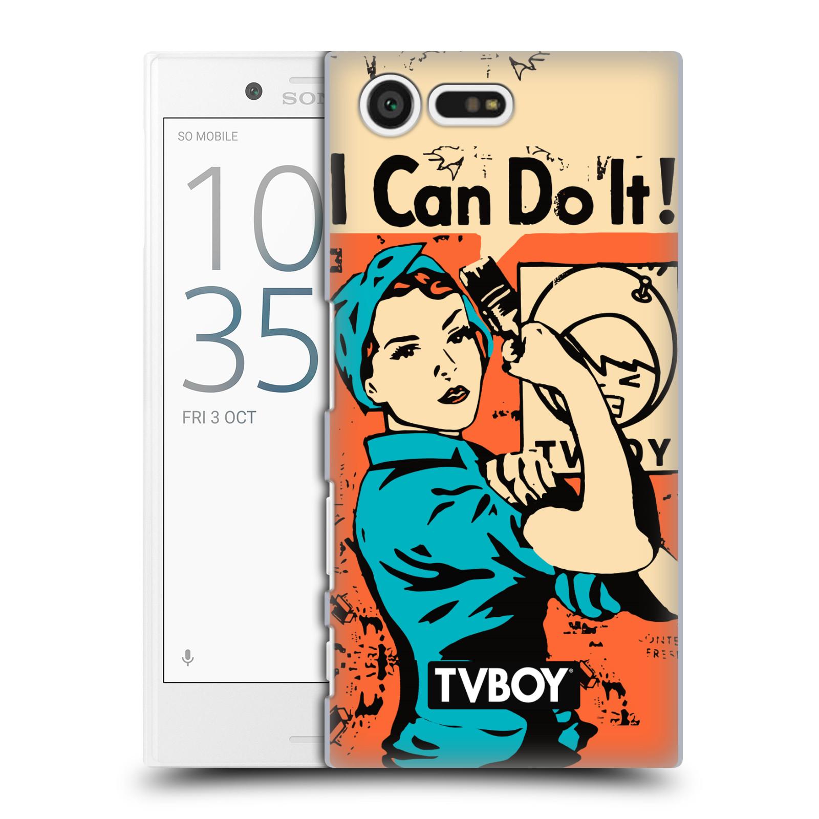 Plastové pouzdro na mobil Sony Xperia X Compact HEAD CASE - TVBOY - I can do it