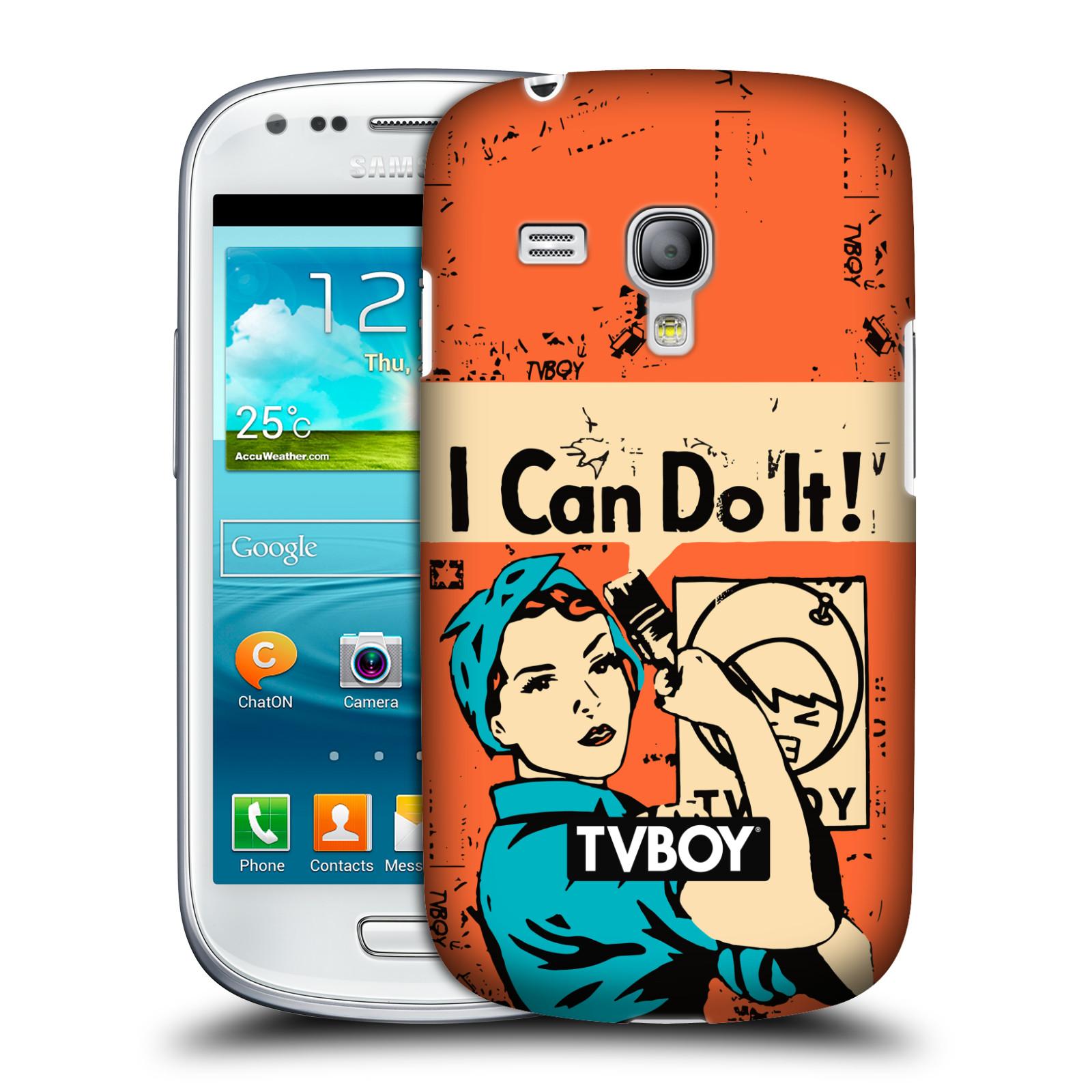 Plastové pouzdro na mobil Samsung Galaxy S III Mini VE HEAD CASE - TVBOY - I can do it (Kryt či obal na mobilní telefon s licencovaným motivem TVBOY pro Samsung Galaxy S3 Mini VE GT-i8200)
