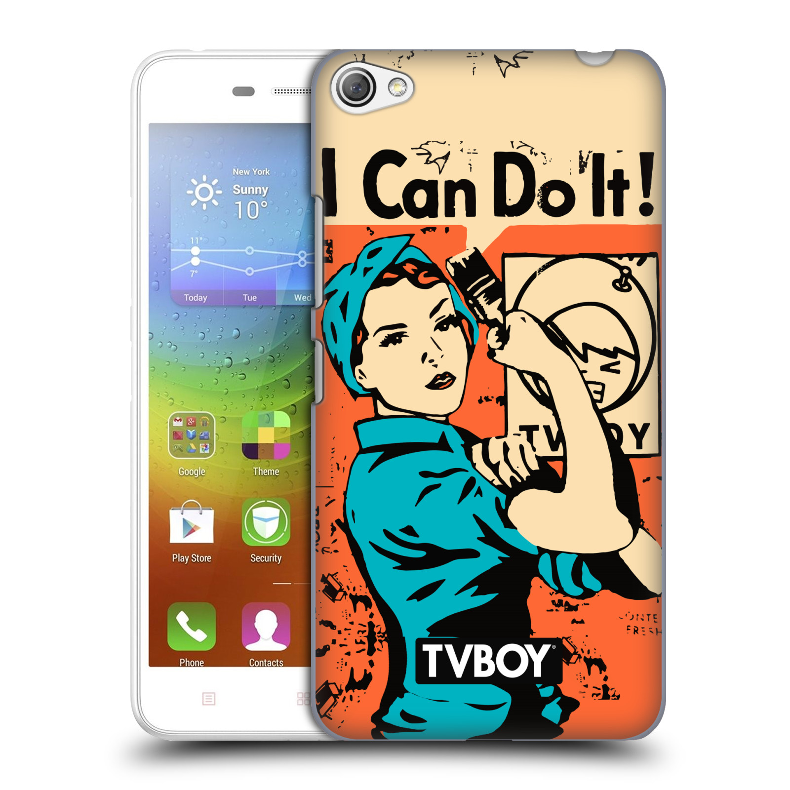 Plastové pouzdro na mobil Lenovo S60 HEAD CASE - TVBOY - I can do it