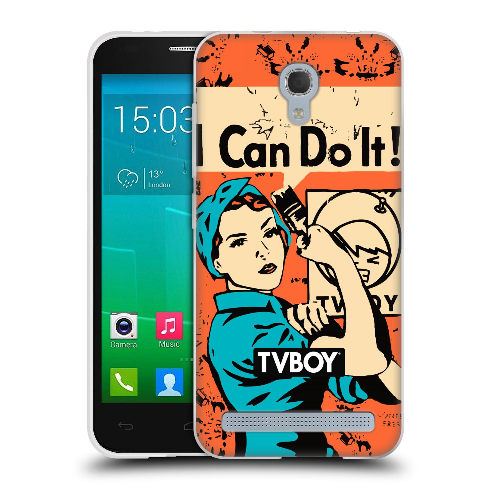 Silikonové pouzdro na mobil Alcatel One Touch Idol 2 Mini S 6036Y HEAD CASE - TVBOY - I can do it (Silikonový kryt či obal na mobilní telefon s licencovaným motivem TVBOY pro Alcatel Idol 2 Mini S OT-6036Y)