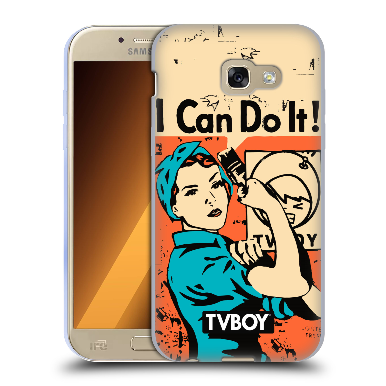 Silikonové pouzdro na mobil Samsung Galaxy A5 (2017) HEAD CASE - TVBOY - I can do it