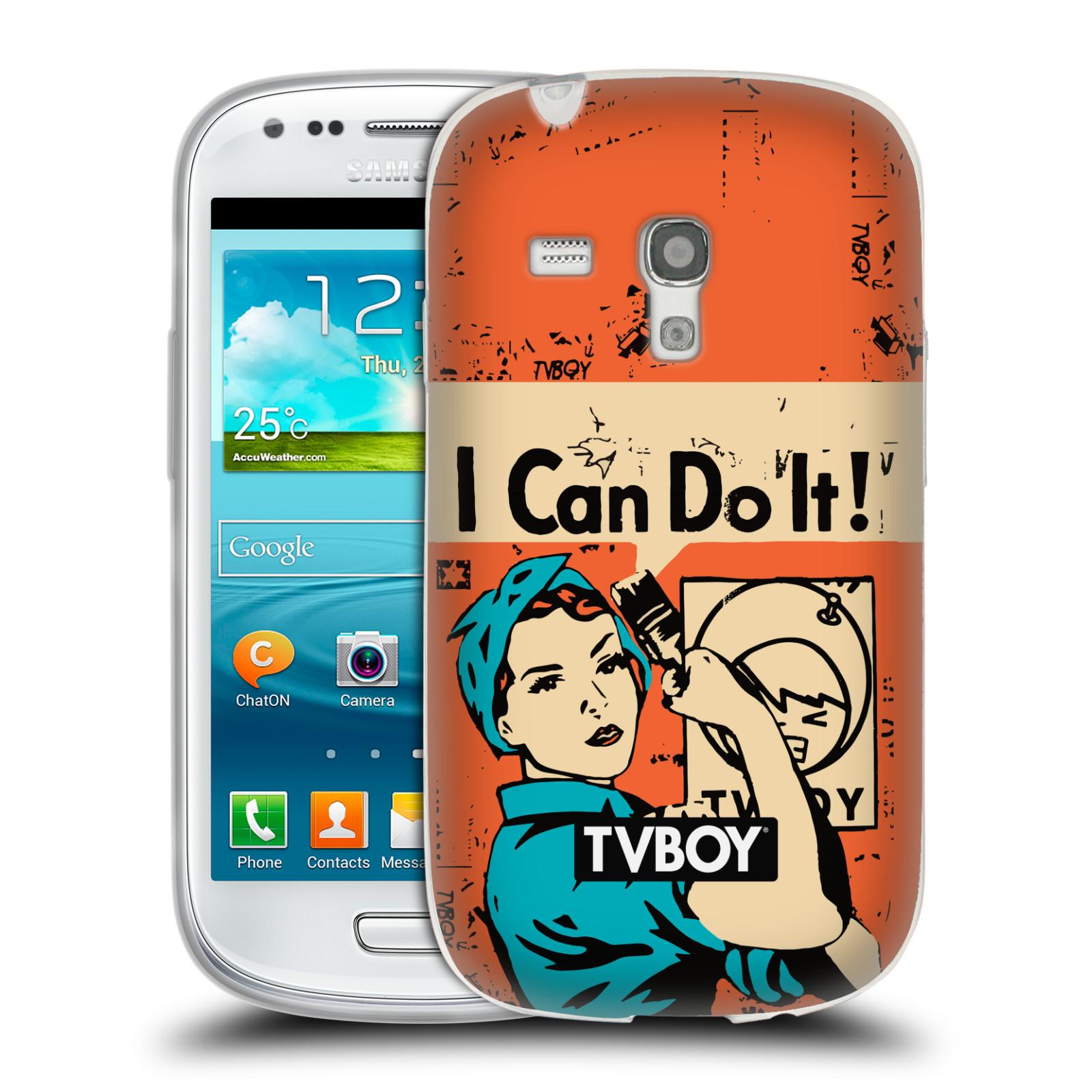 Silikonové pouzdro na mobil Samsung Galaxy S III Mini HEAD CASE - TVBOY - I can do it (Silikonový kryt či obal na mobilní telefon s licencovaným motivem TVBOY pro Samsung Galaxy S III Mini GT-i8190)