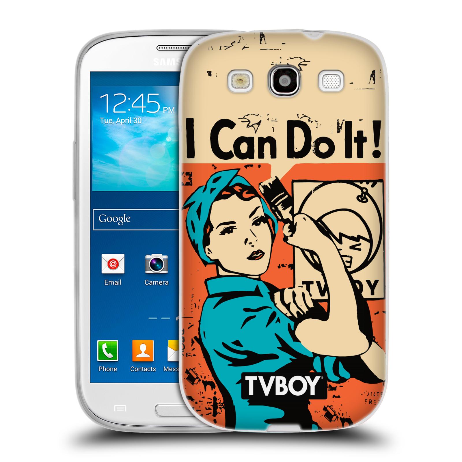 Silikonové pouzdro na mobil Samsung Galaxy S III HEAD CASE - TVBOY - I can do it (Silikonový kryt či obal na mobilní telefon s licencovaným motivem TVBOY pro Samsung Galaxy S III GT-i9300)
