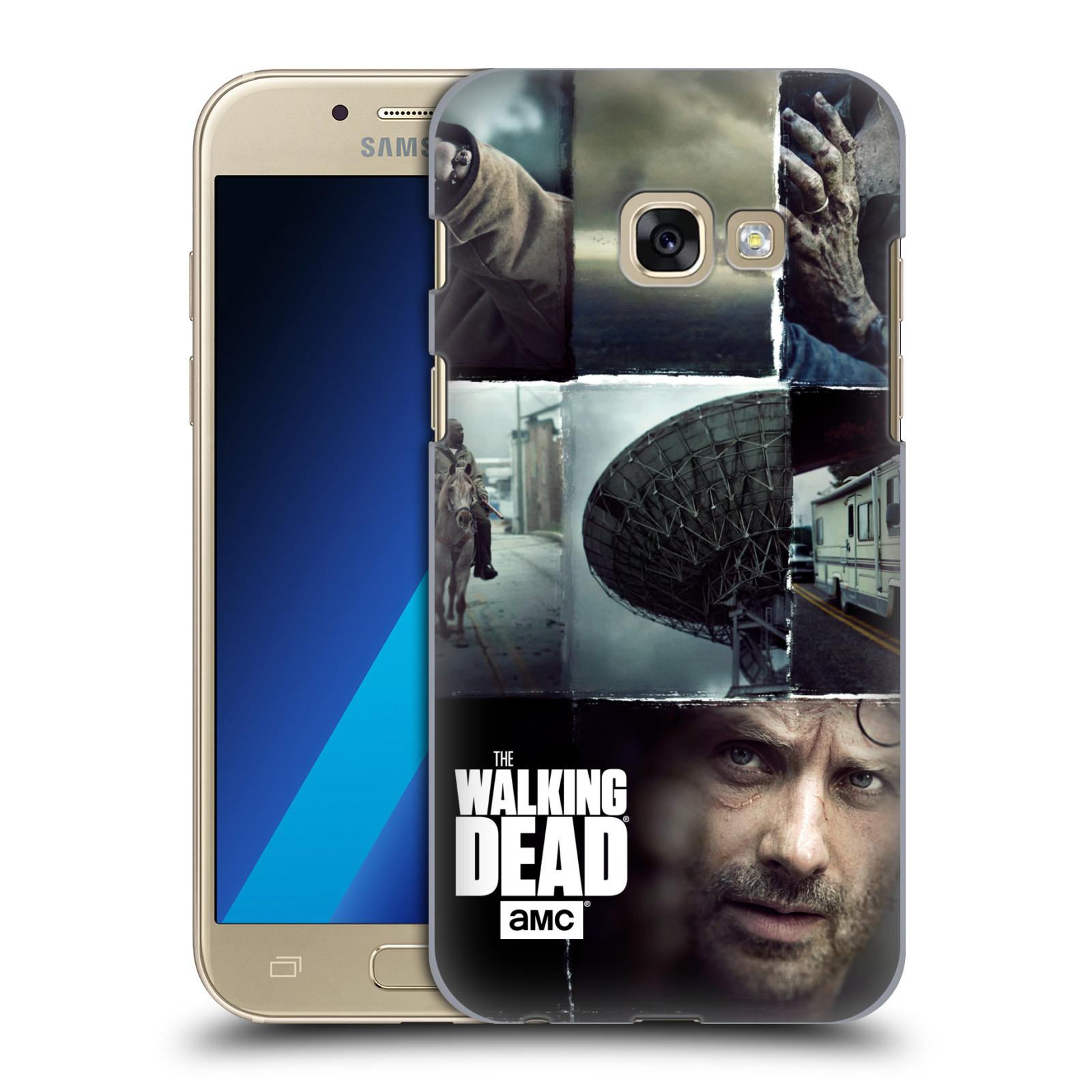 Plastové pouzdro na mobil Samsung Galaxy A3 (2017) HEAD CASE Živí mrtví - Koláž