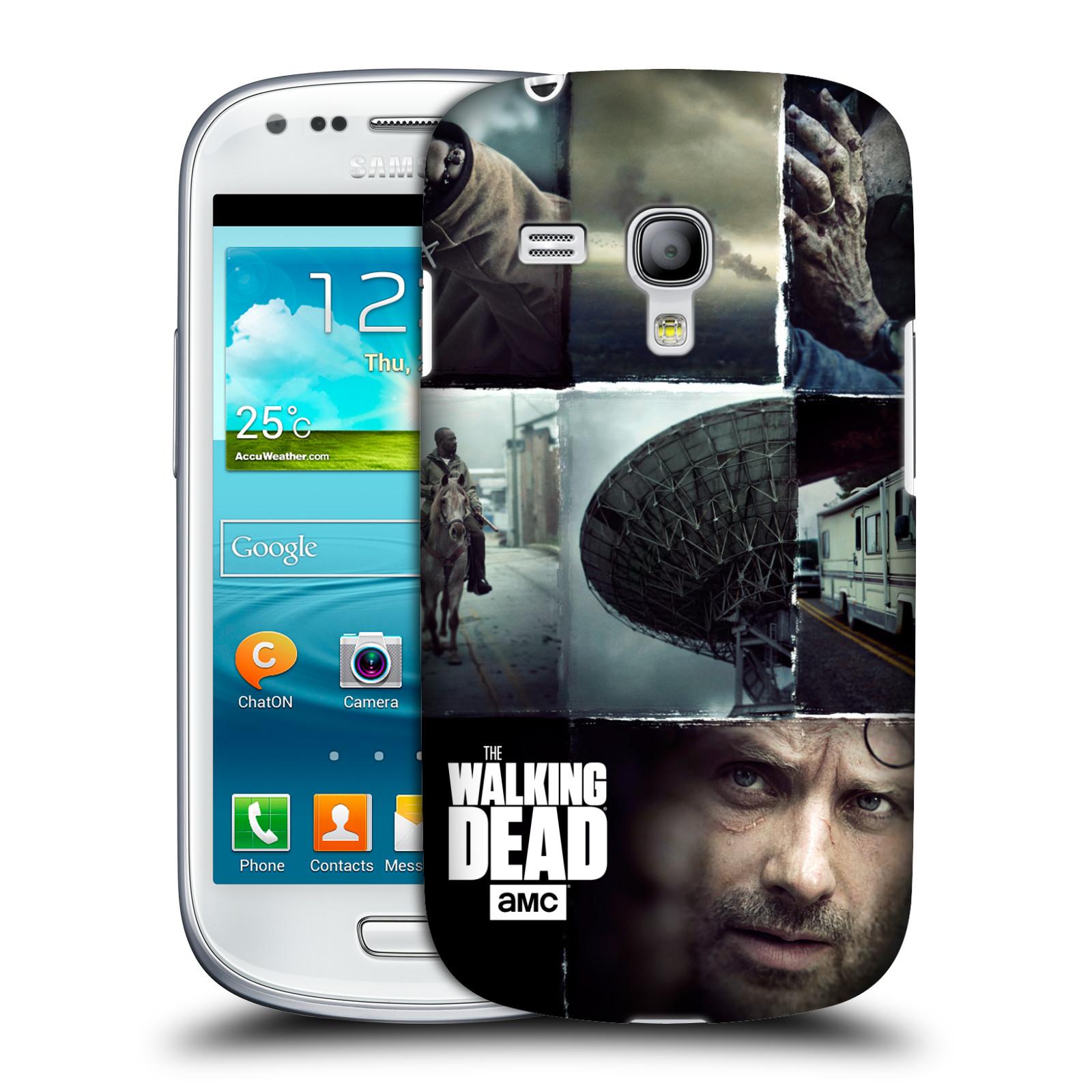 Plastové pouzdro na mobil Samsung Galaxy S III Mini VE HEAD CASE Živí mrtví - Koláž (Kryt či obal na mobilní telefon s licencovaným motivem Živí mrtví / The Walking Dead pro Samsung Galaxy S3 Mini VE GT-i8200)