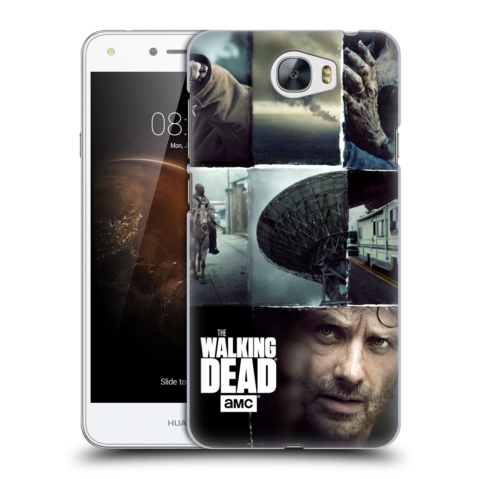 Plastové pouzdro na mobil Huawei Y6 II Compact HEAD CASE Živí mrtví - Koláž