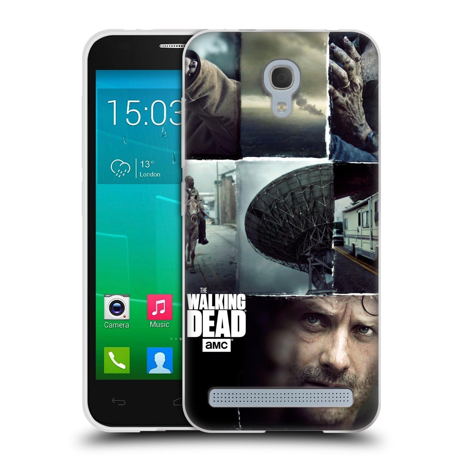 Silikonové pouzdro na mobil Alcatel One Touch Idol 2 Mini S 6036Y HEAD CASE Živí mrtví - Koláž (Silikonový kryt či obal na mobilní telefon s licencovaným motivem Živí mrtví / The Walking Dead pro Alcatel Idol 2 Mini S OT-6036Y)