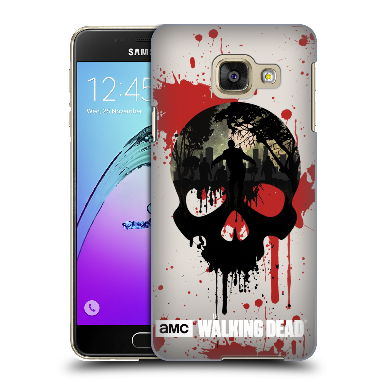 Plastové pouzdro na mobil Samsung Galaxy A3 (2016) HEAD CASE Živí mrtví - Lebka