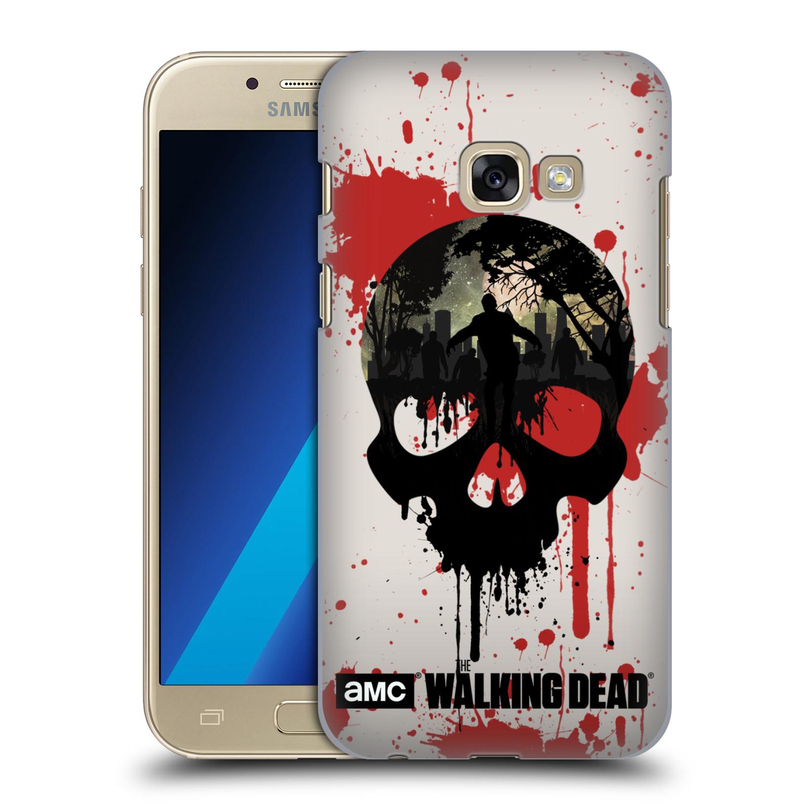 Plastové pouzdro na mobil Samsung Galaxy A3 (2017) HEAD CASE Živí mrtví - Lebka