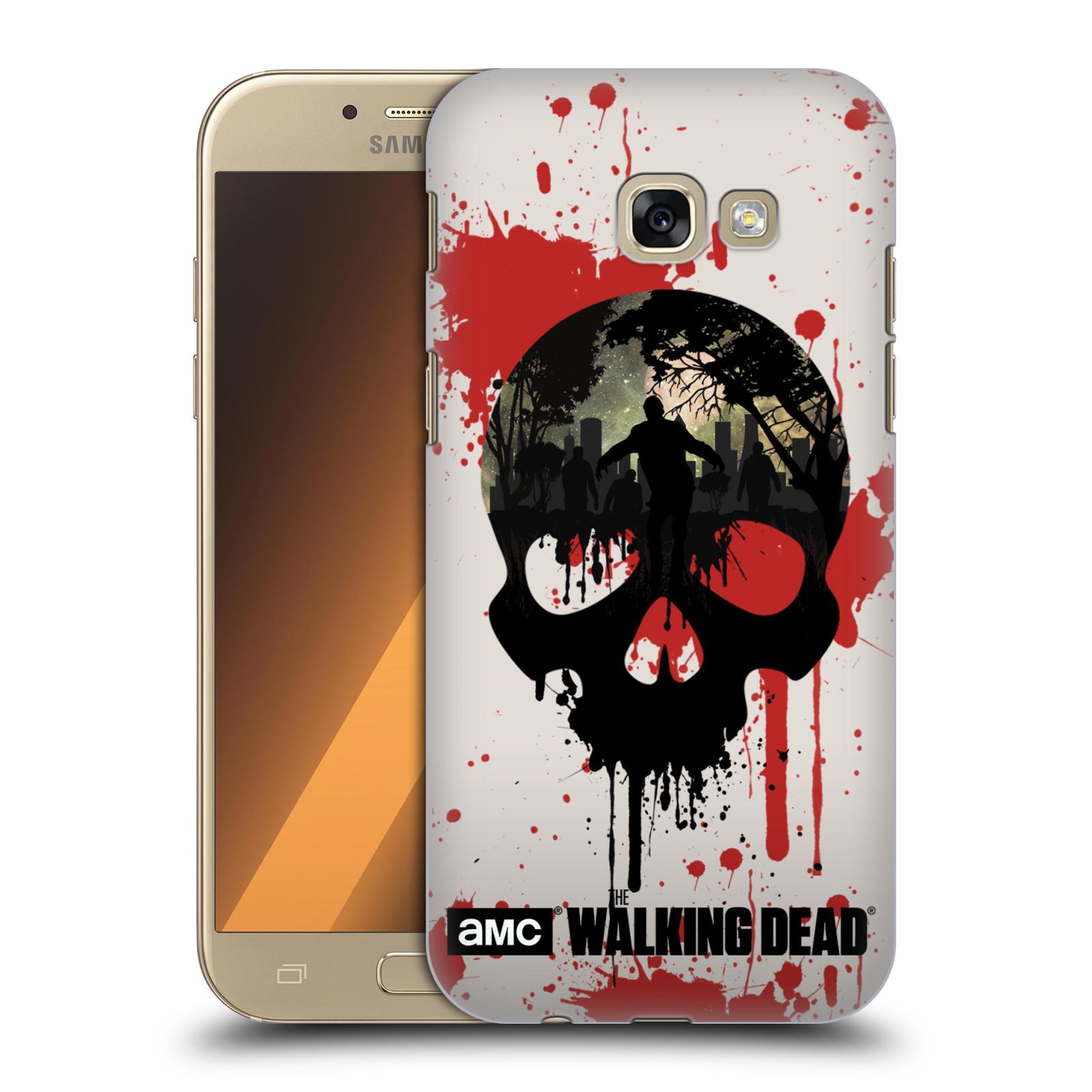 Plastové pouzdro na mobil Samsung Galaxy A5 (2017) HEAD CASE Živí mrtví - Lebka