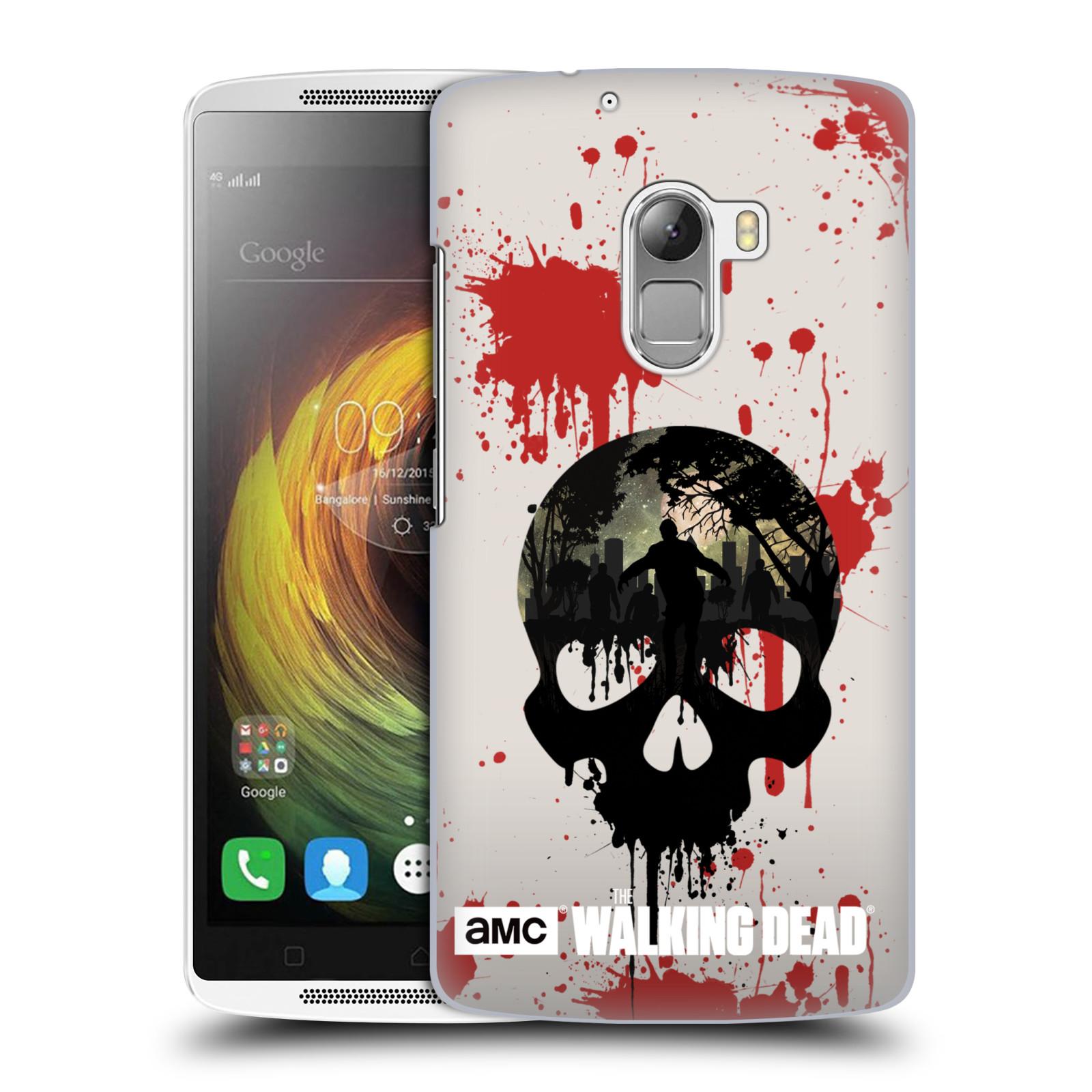 Plastové pouzdro na mobil Lenovo A7010 HEAD CASE Živí mrtví - Lebka