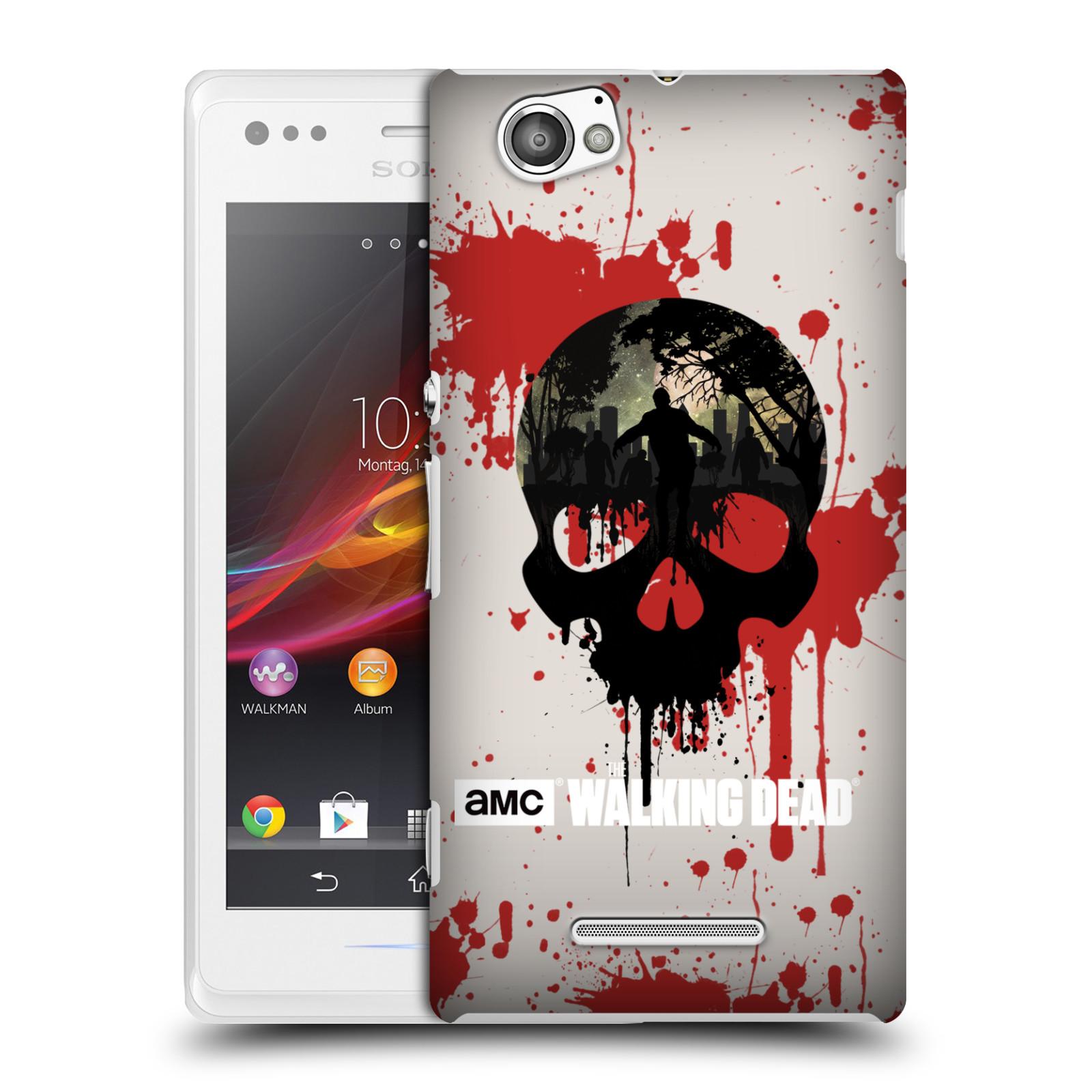 Plastové pouzdro na mobil Sony Xperia M C1905 HEAD CASE Živí mrtví - Lebka