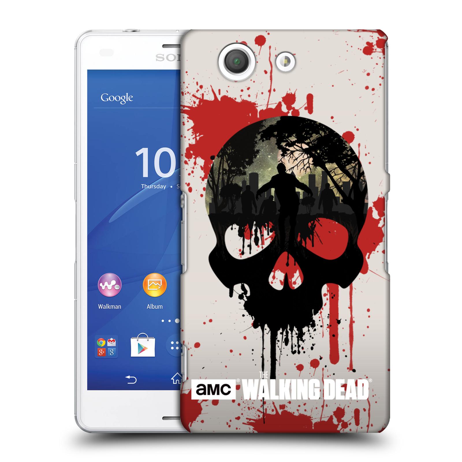 Plastové pouzdro na mobil Sony Xperia Z3 Compact D5803 HEAD CASE Živí mrtví - Lebka