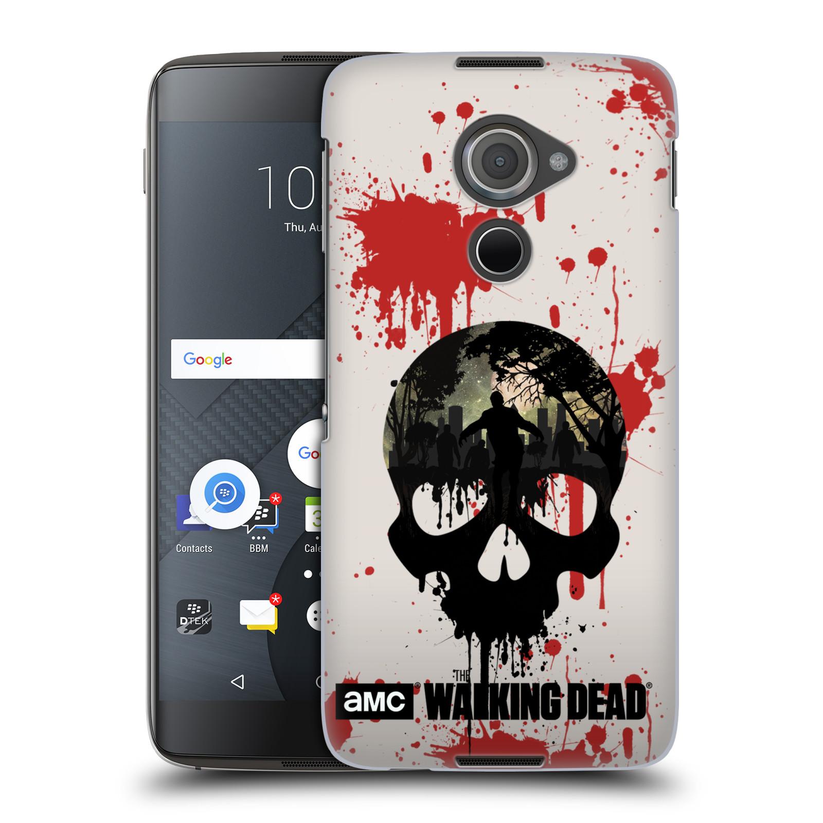 Plastové pouzdro na mobil Blackberry DTEK60 (Argon) - Head Case Živí mrtví - Lebka