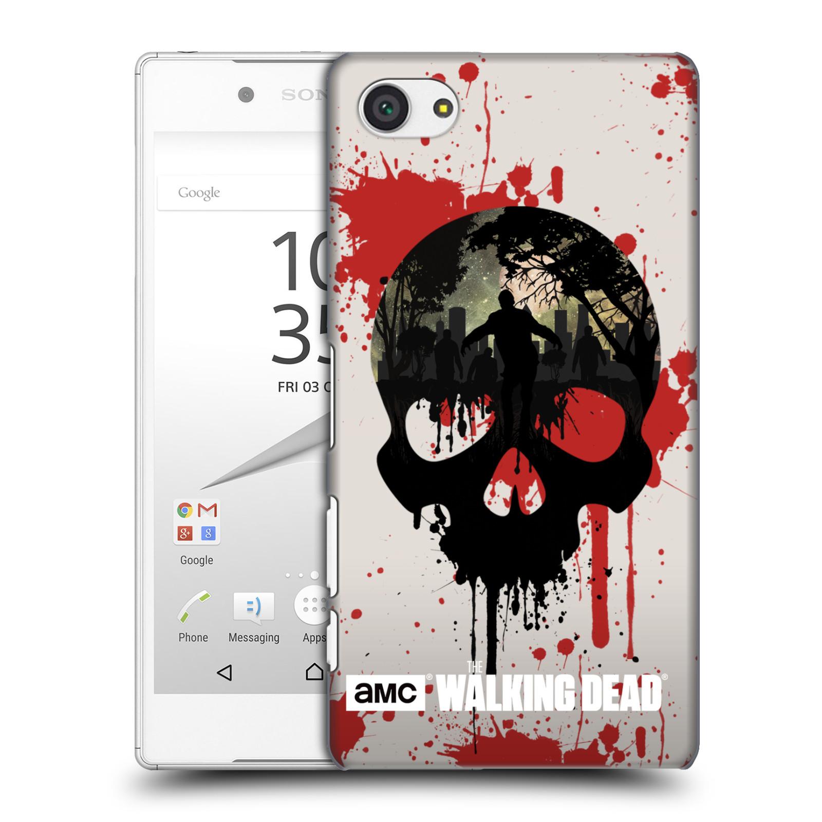 Plastové pouzdro na mobil Sony Xperia Z5 Compact HEAD CASE Živí mrtví - Lebka