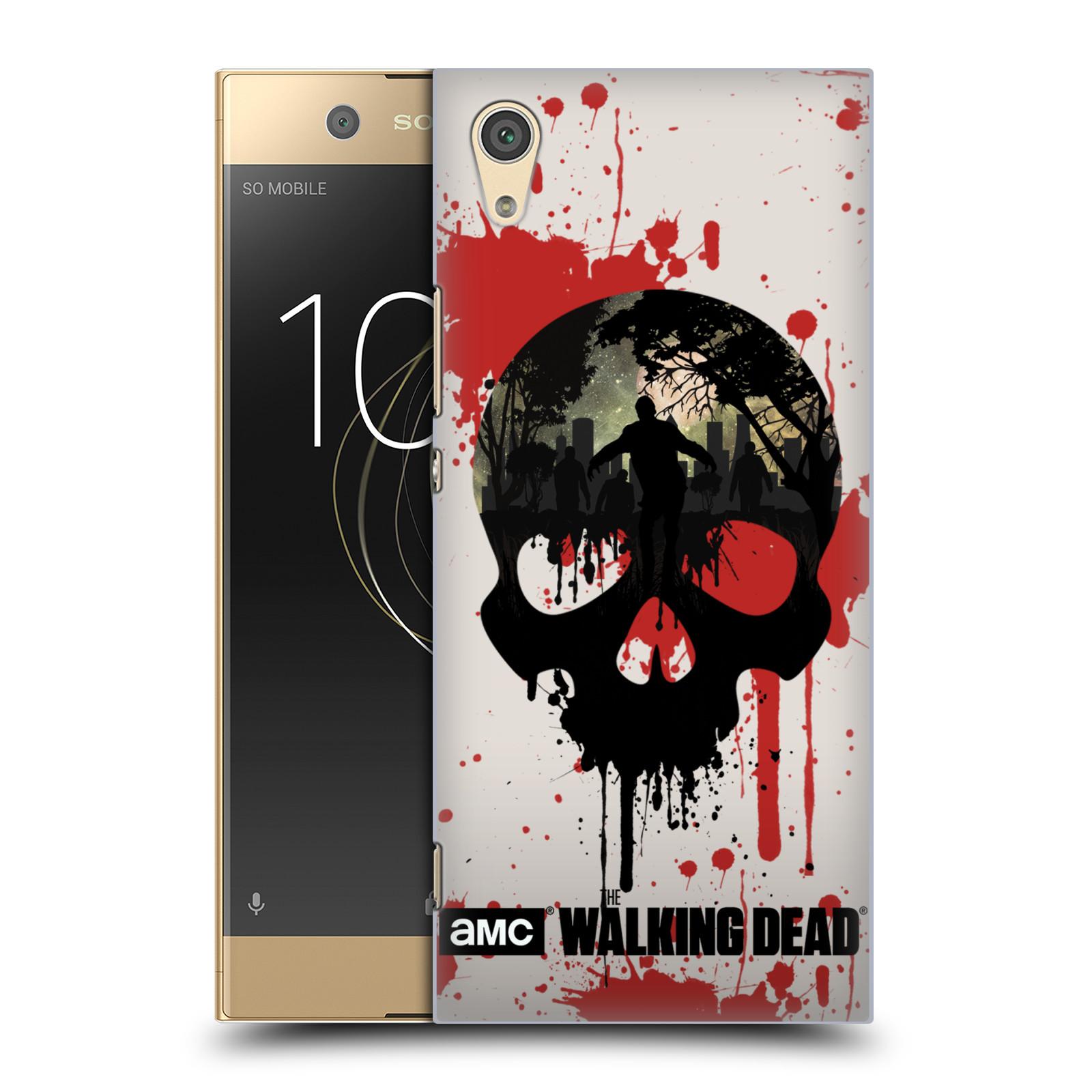 Plastové pouzdro na mobil Sony Xperia XA1 - Head Case - Živí mrtví - Lebka