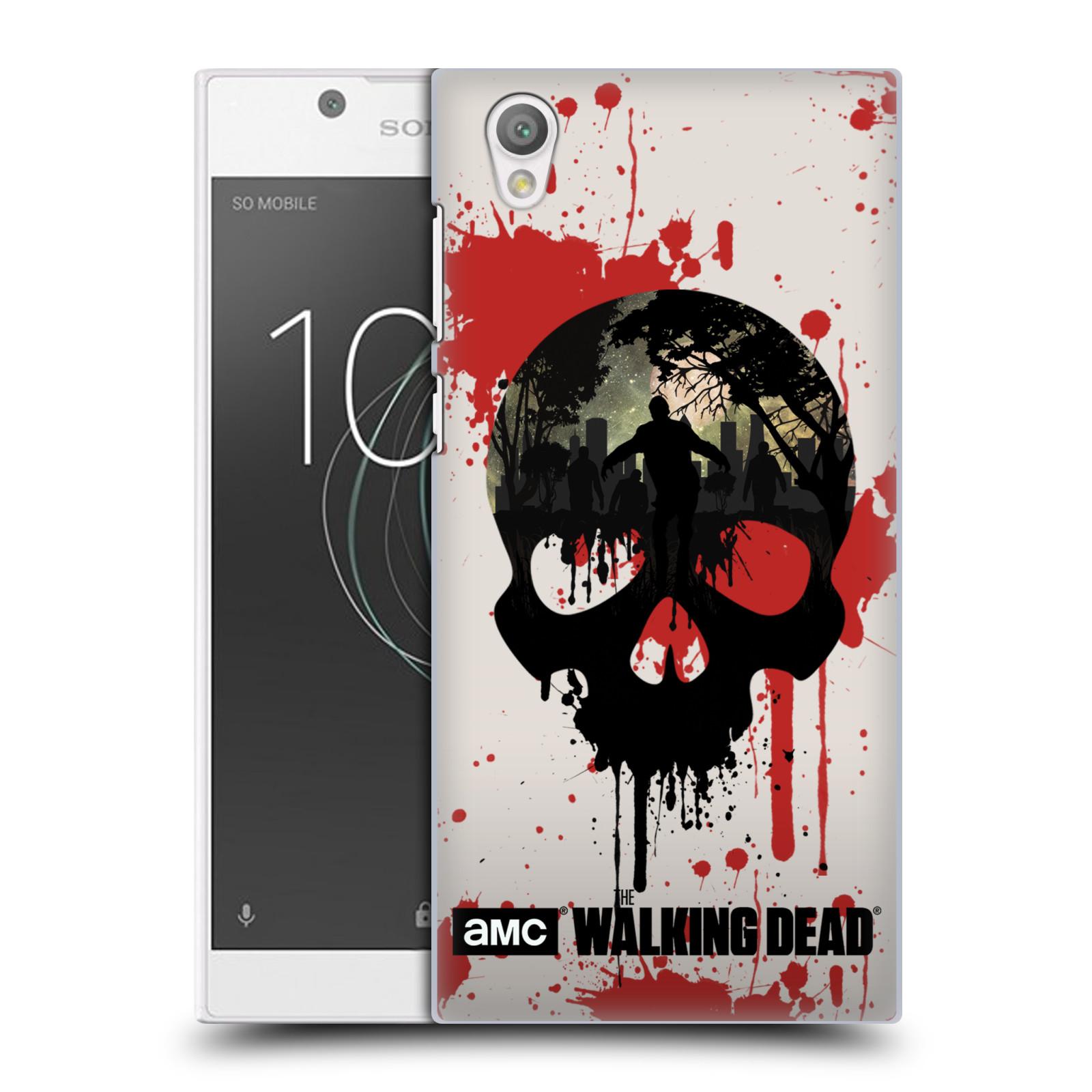 Plastové pouzdro na mobil Sony Xperia L1 - Head Case - Živí mrtví - Lebka