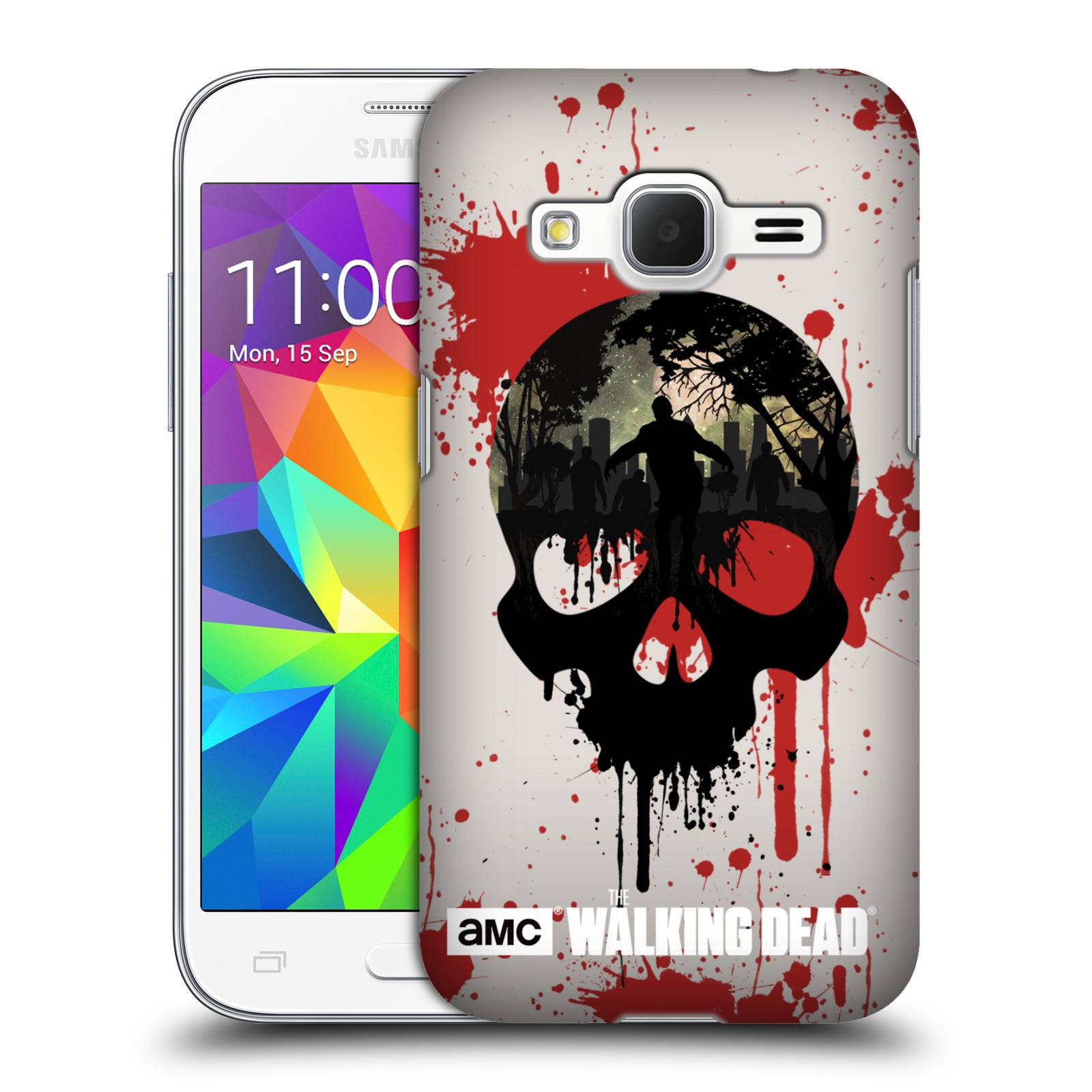 Plastové pouzdro na mobil Samsung Galaxy Core Prime VE HEAD CASE Živí mrtví - Lebka