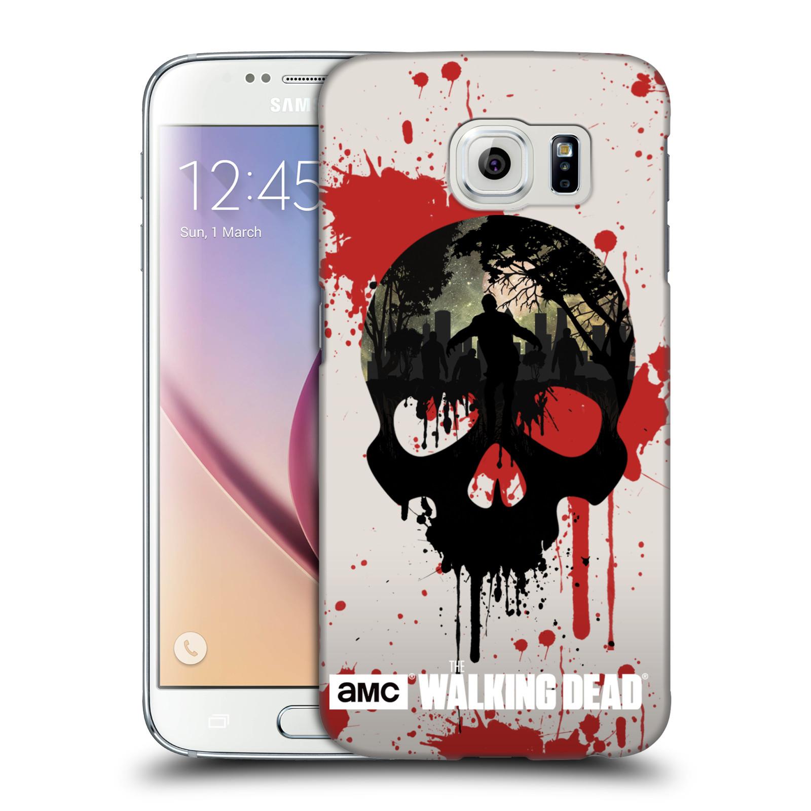 Plastové pouzdro na mobil Samsung Galaxy S6 HEAD CASE Živí mrtví - Lebka