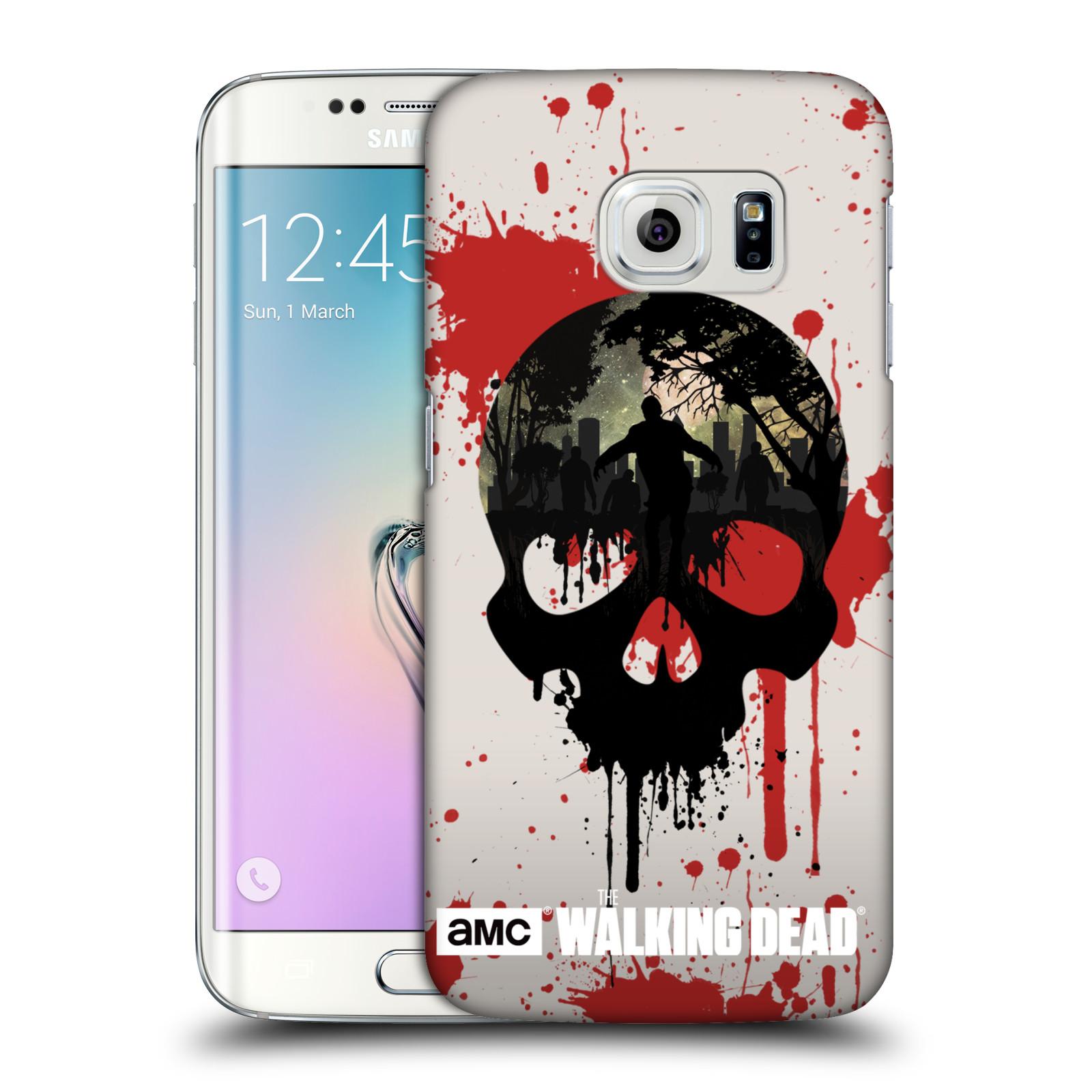Plastové pouzdro na mobil Samsung Galaxy S6 Edge HEAD CASE Živí mrtví - Lebka