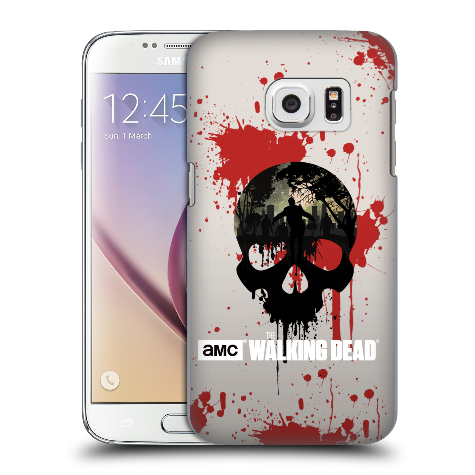 Plastové pouzdro na mobil Samsung Galaxy S7 HEAD CASE Živí mrtví - Lebka