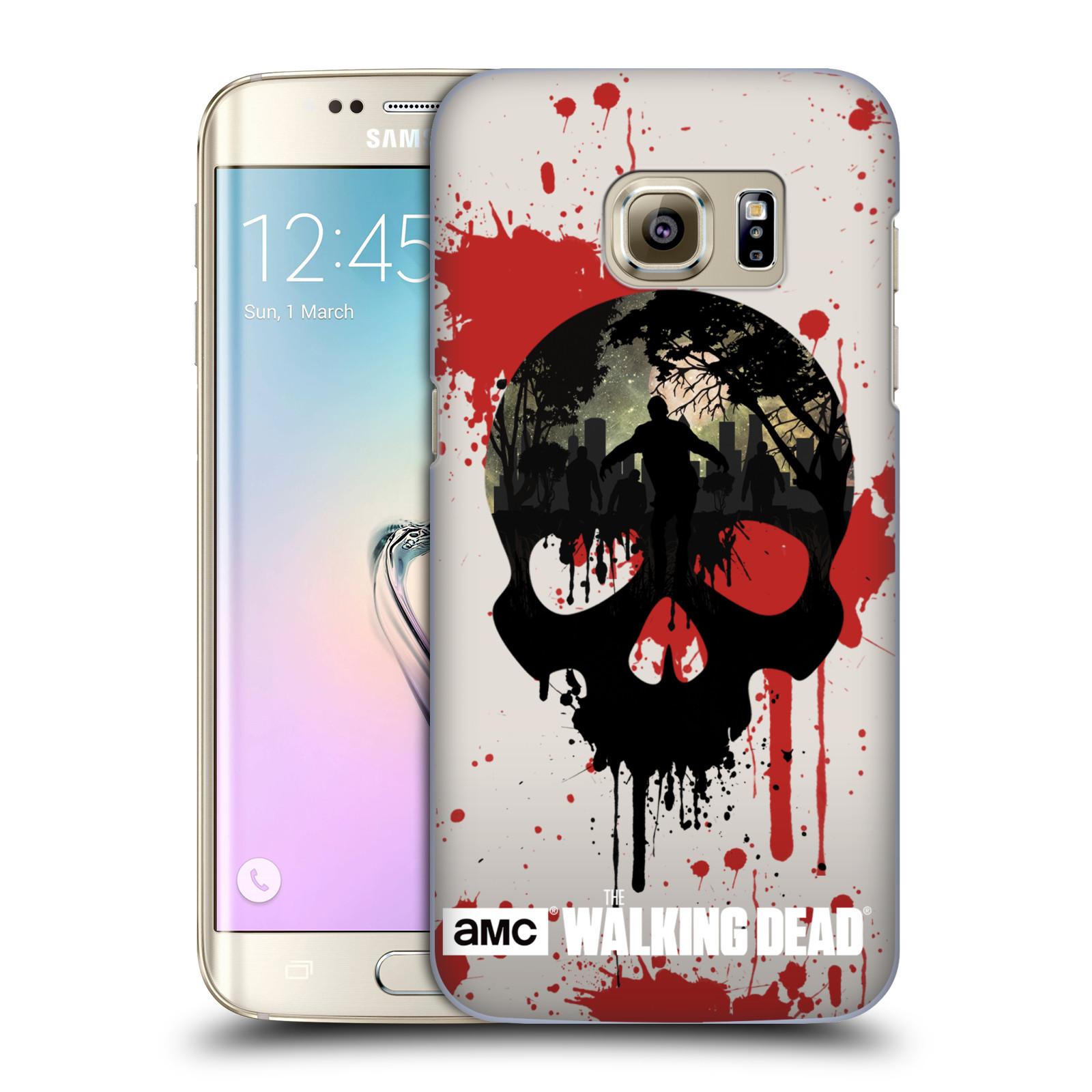 Plastové pouzdro na mobil Samsung Galaxy S7 Edge HEAD CASE Živí mrtví - Lebka