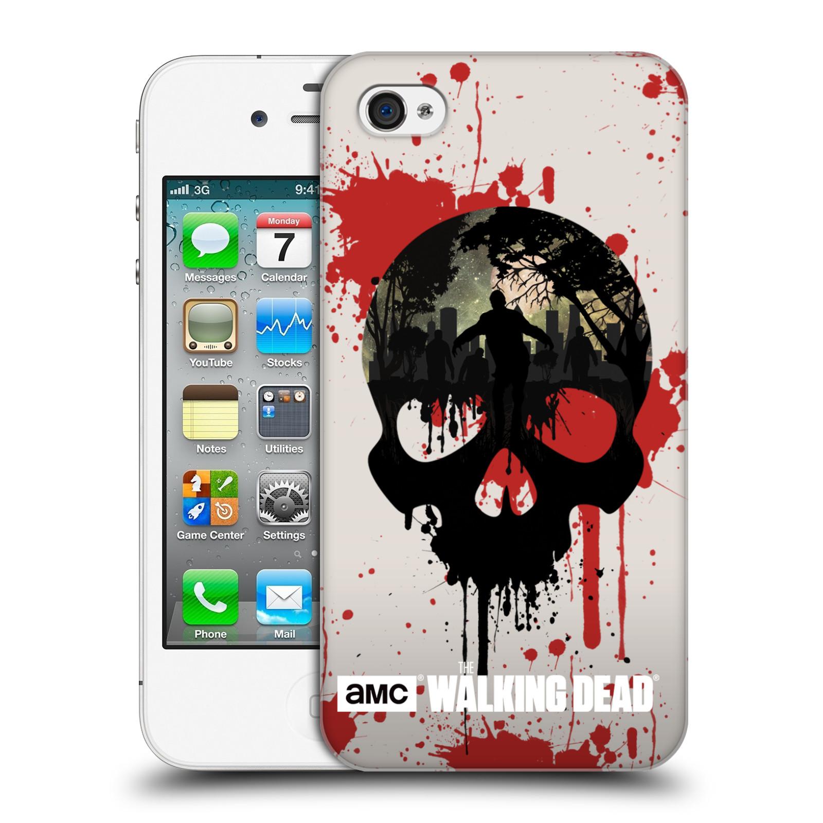 Plastové pouzdro na mobil Apple iPhone 4 a 4S HEAD CASE Živí mrtví - Lebka