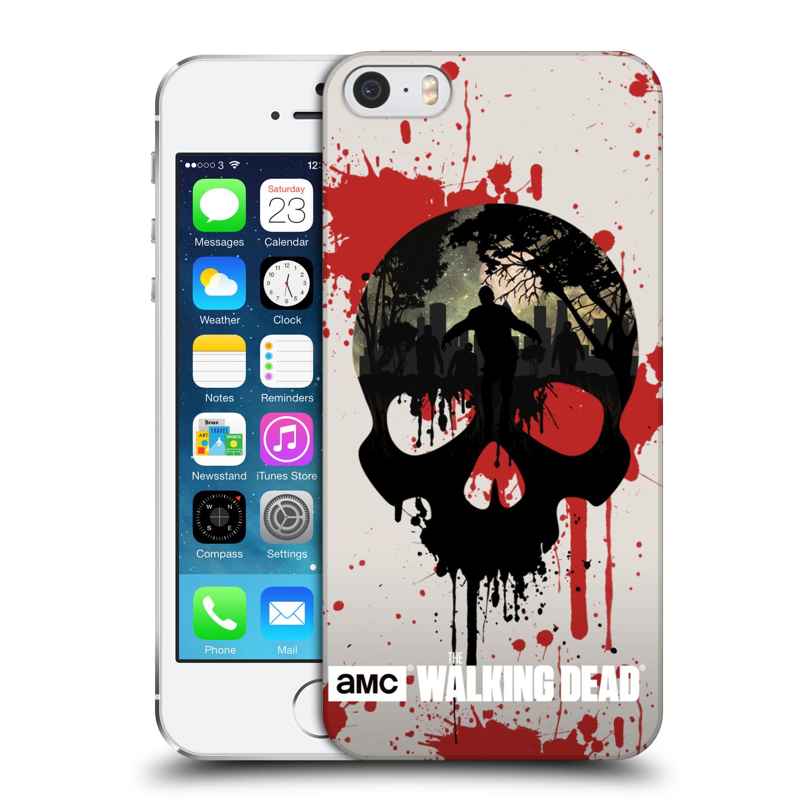 Plastové pouzdro na mobil Apple iPhone SE, 5 a 5S HEAD CASE Živí mrtví - Lebka