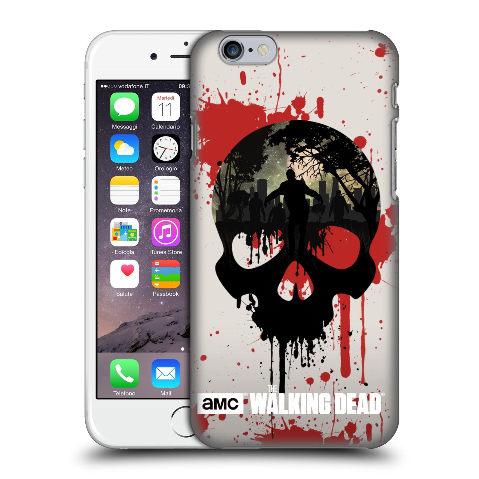 Plastové pouzdro na mobil Apple iPhone 6 HEAD CASE Živí mrtví - Lebka