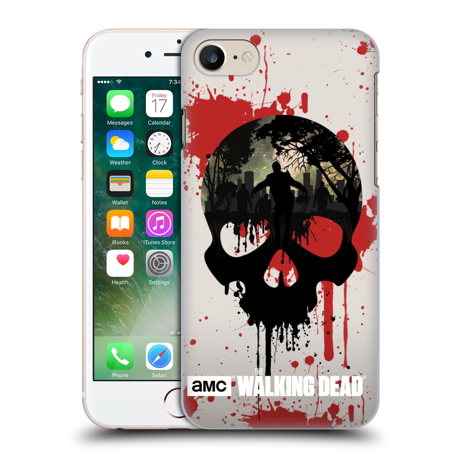 Plastové pouzdro na mobil Apple iPhone 7 HEAD CASE Živí mrtví - Lebka