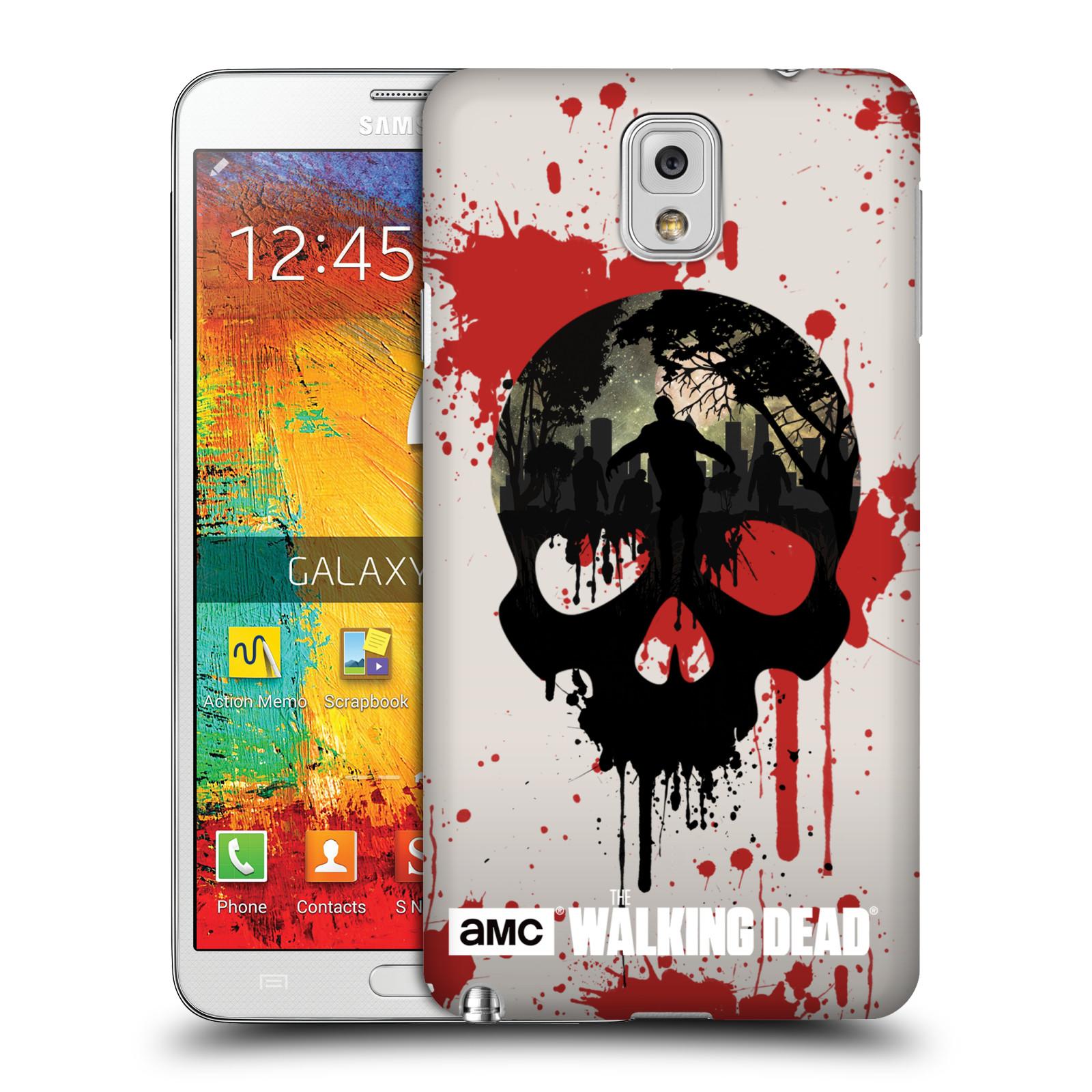 Plastové pouzdro na mobil Samsung Galaxy Note 3 HEAD CASE Živí mrtví - Lebka