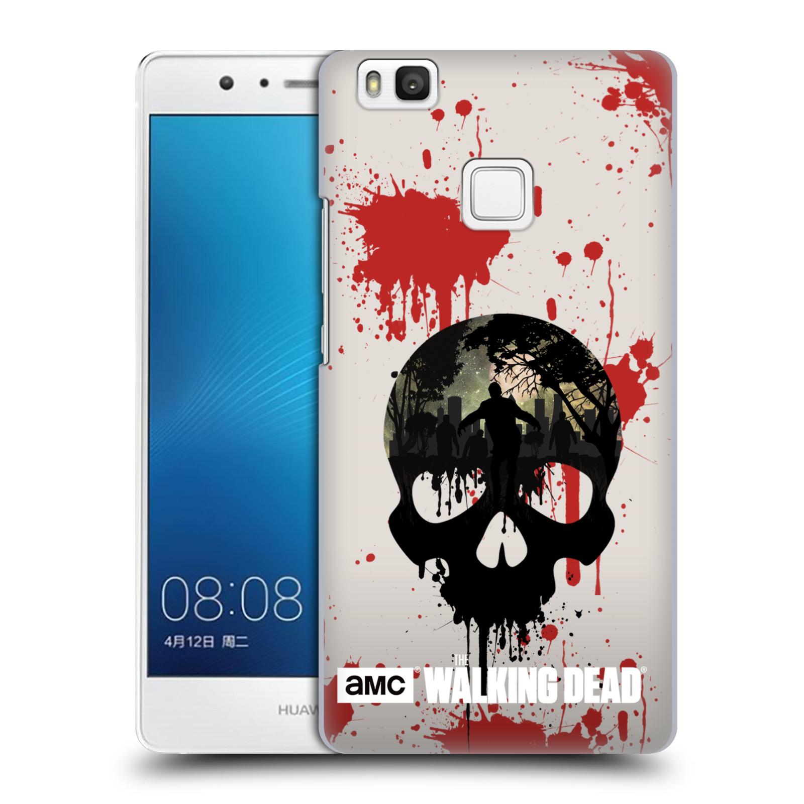 Plastové pouzdro na mobil Huawei P9 Lite HEAD CASE Živí mrtví - Lebka