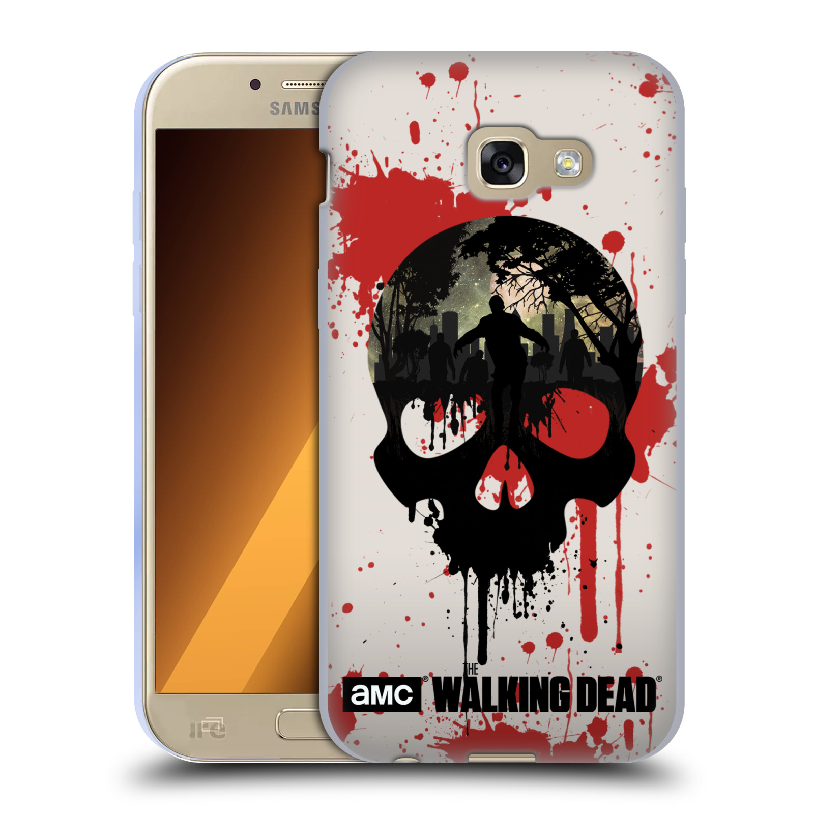 Silikonové pouzdro na mobil Samsung Galaxy A5 (2017) HEAD CASE Živí mrtví -  Lebka empty 655978f0487