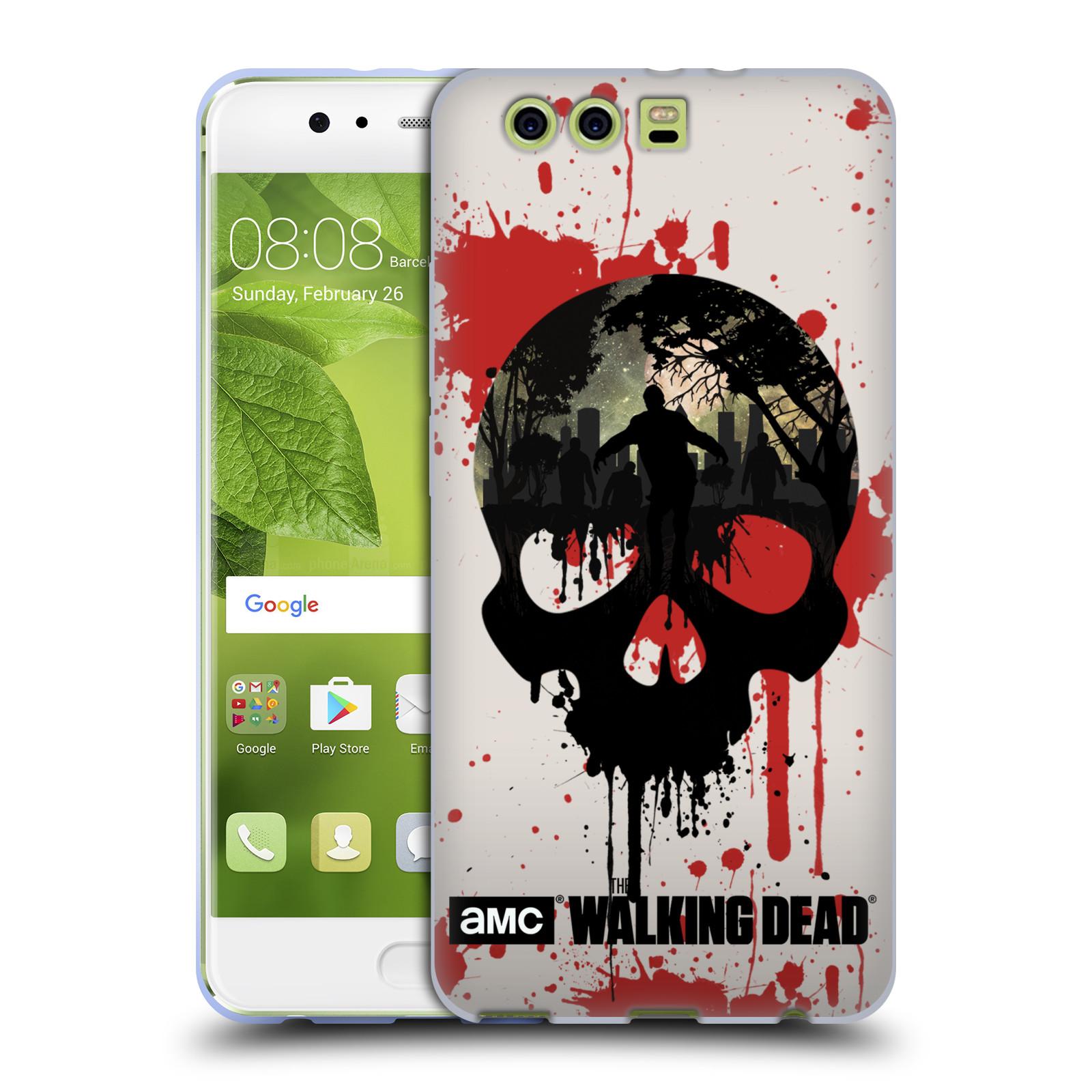 Silikonové pouzdro na mobil Huawei P10 Plus - Head Case Živí mrtví - Lebka