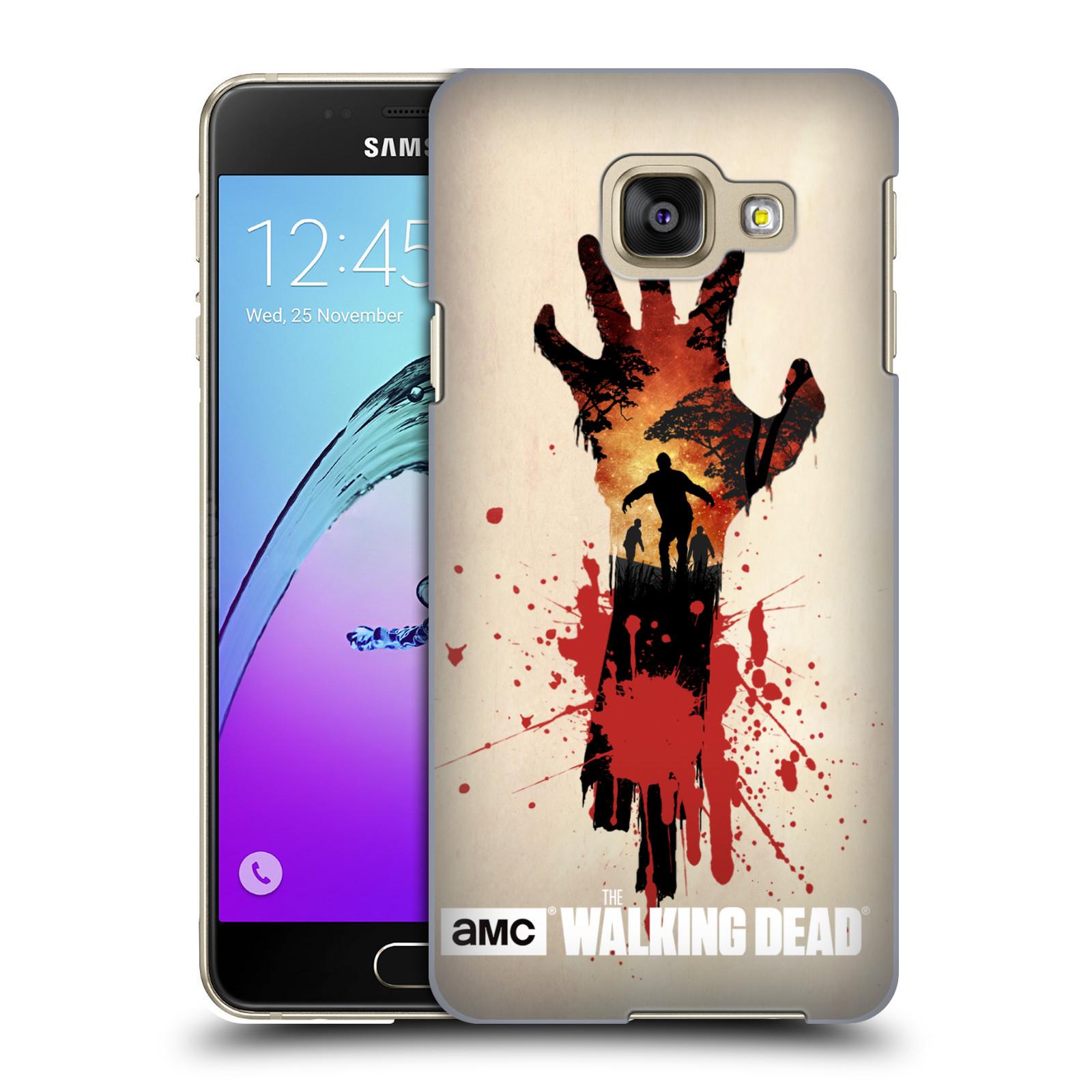 Plastové pouzdro na mobil Samsung Galaxy A3 (2016) HEAD CASE Živí mrtví - Ruka