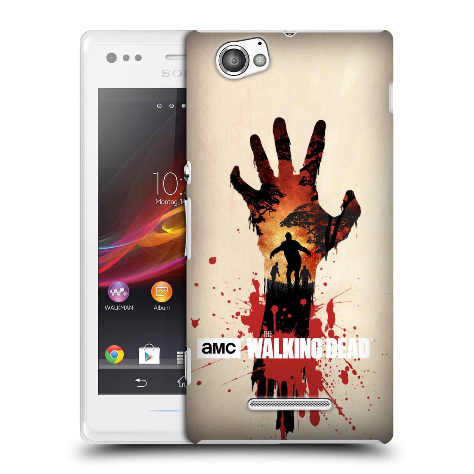 Plastové pouzdro na mobil Sony Xperia M C1905 HEAD CASE Živí mrtví - Ruka