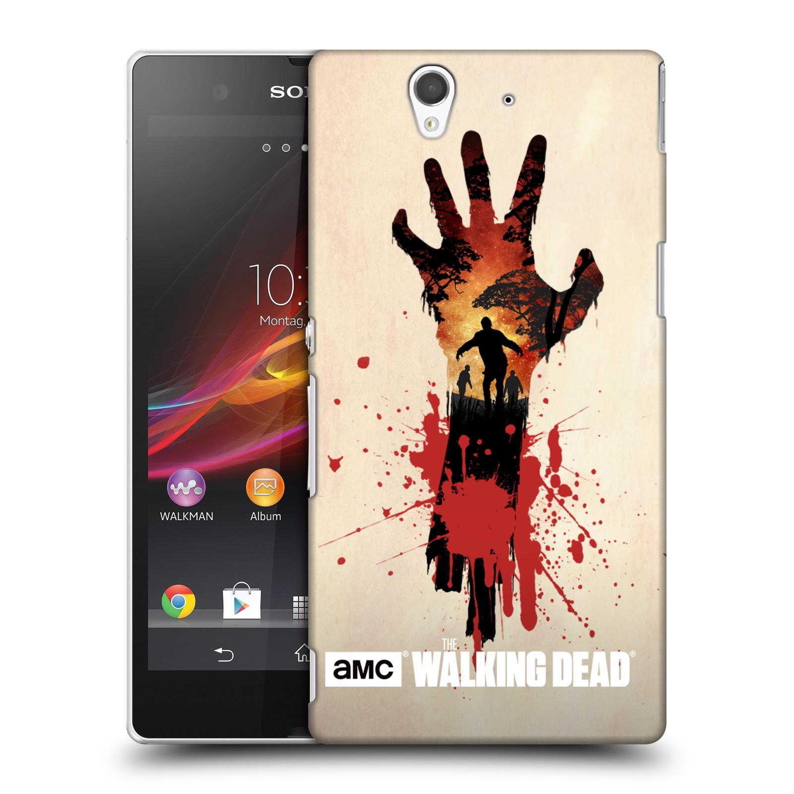 Plastové pouzdro na mobil Sony Xperia Z C6603 HEAD CASE Živí mrtví - Ruka