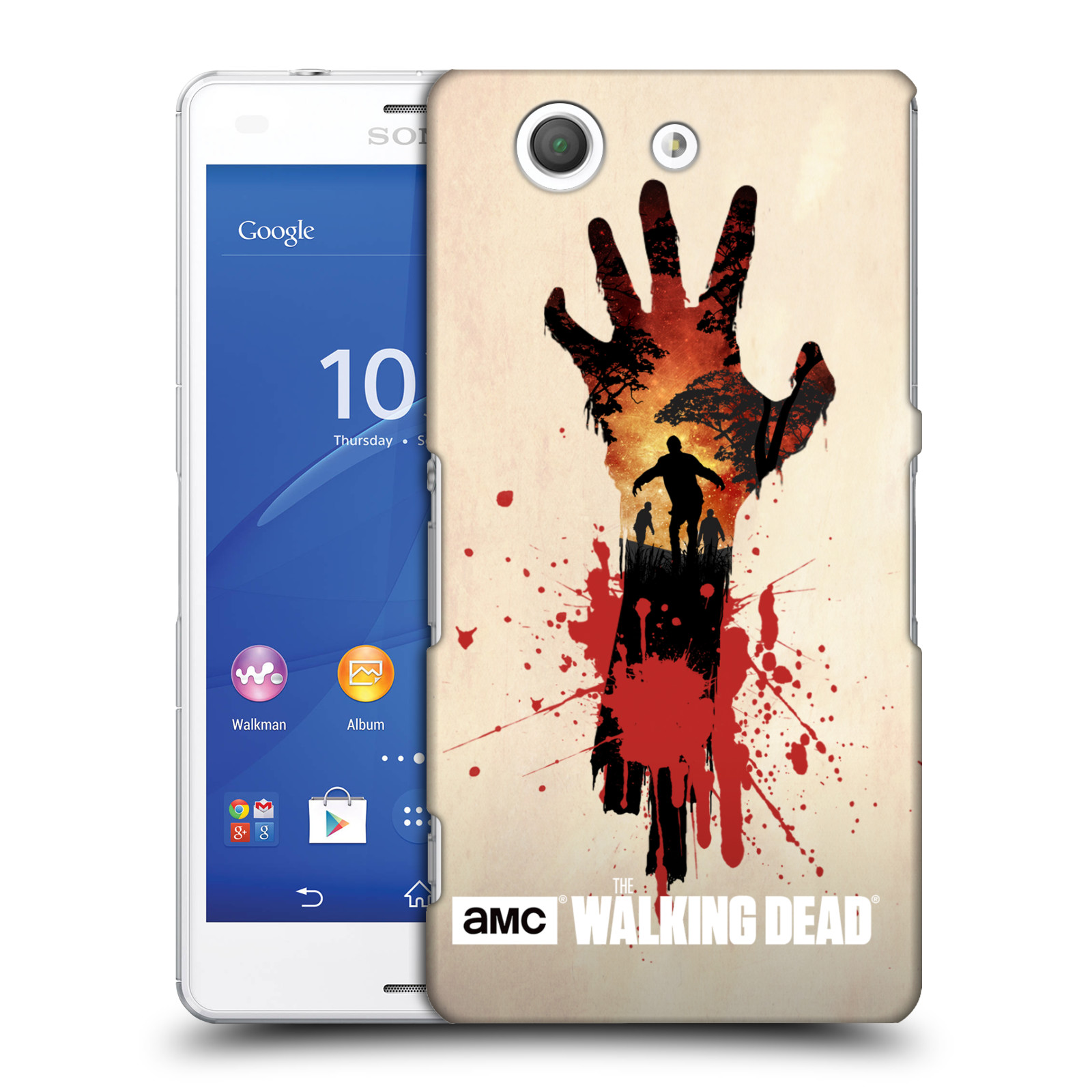 Plastové pouzdro na mobil Sony Xperia Z3 Compact D5803 HEAD CASE Živí mrtví - Ruka