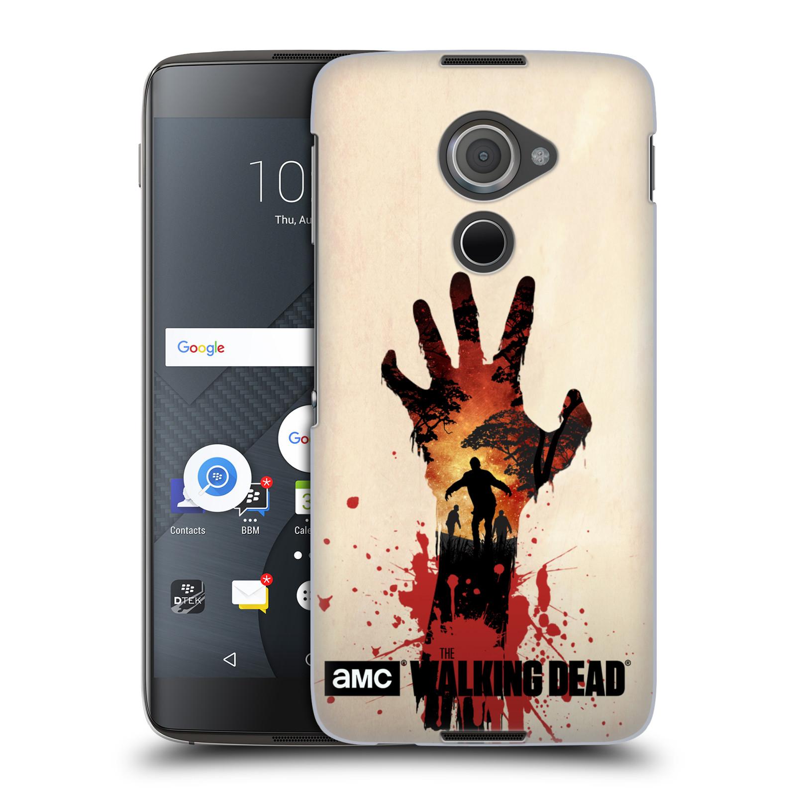 Plastové pouzdro na mobil Blackberry DTEK60 (Argon) - Head Case Živí mrtví - Ruka