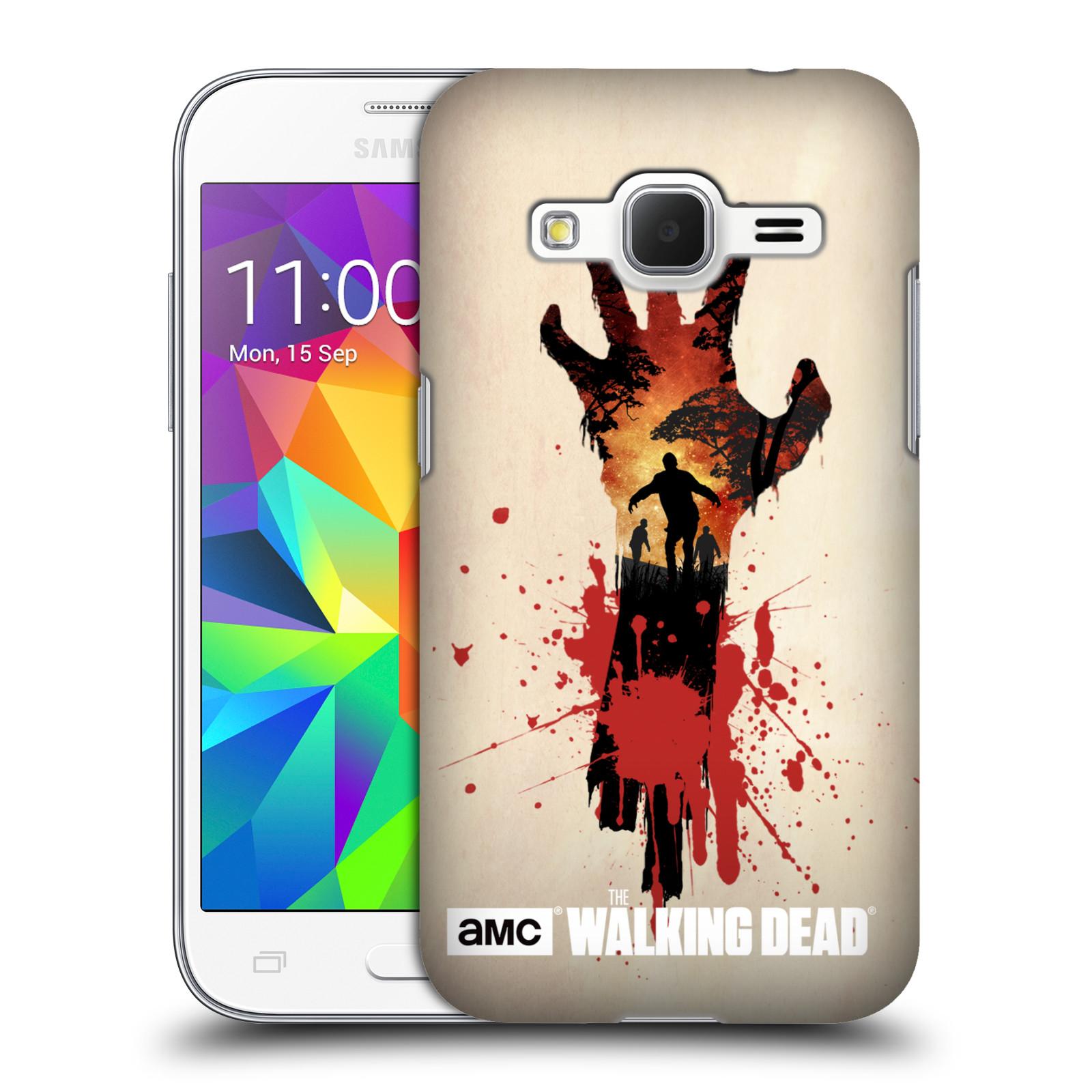 Plastové pouzdro na mobil Samsung Galaxy Core Prime VE HEAD CASE Živí mrtví - Ruka