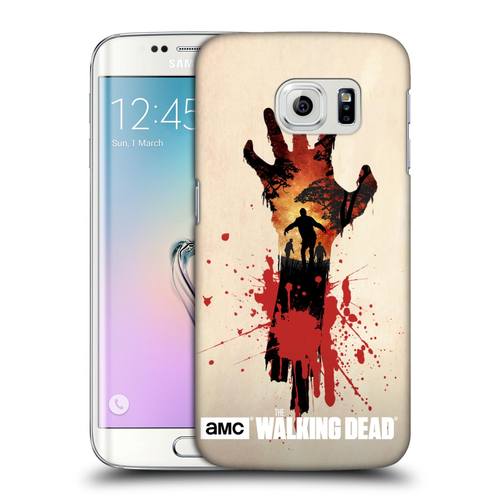 Plastové pouzdro na mobil Samsung Galaxy S6 Edge HEAD CASE Živí mrtví - Ruka