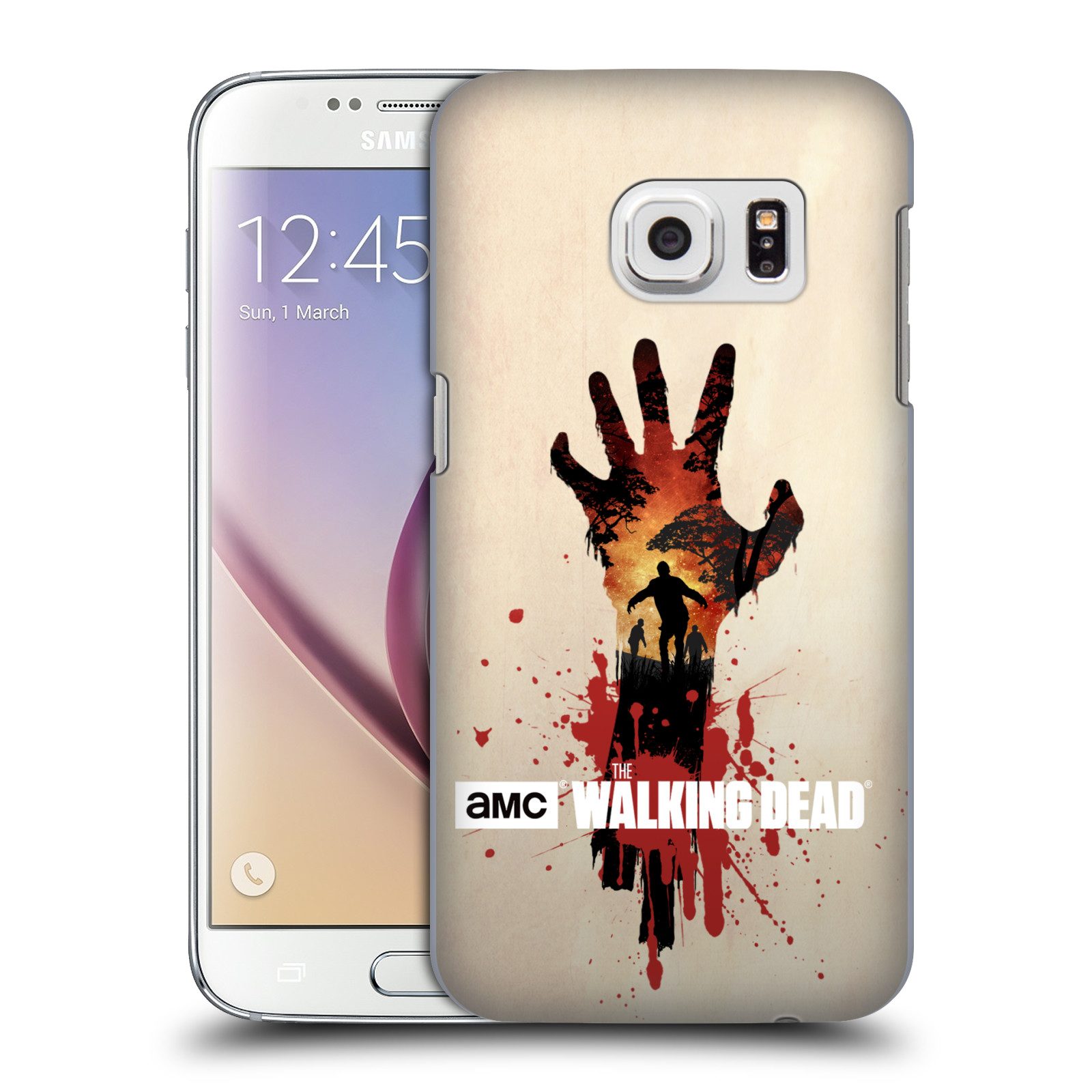 Plastové pouzdro na mobil Samsung Galaxy S7 HEAD CASE Živí mrtví - Ruka