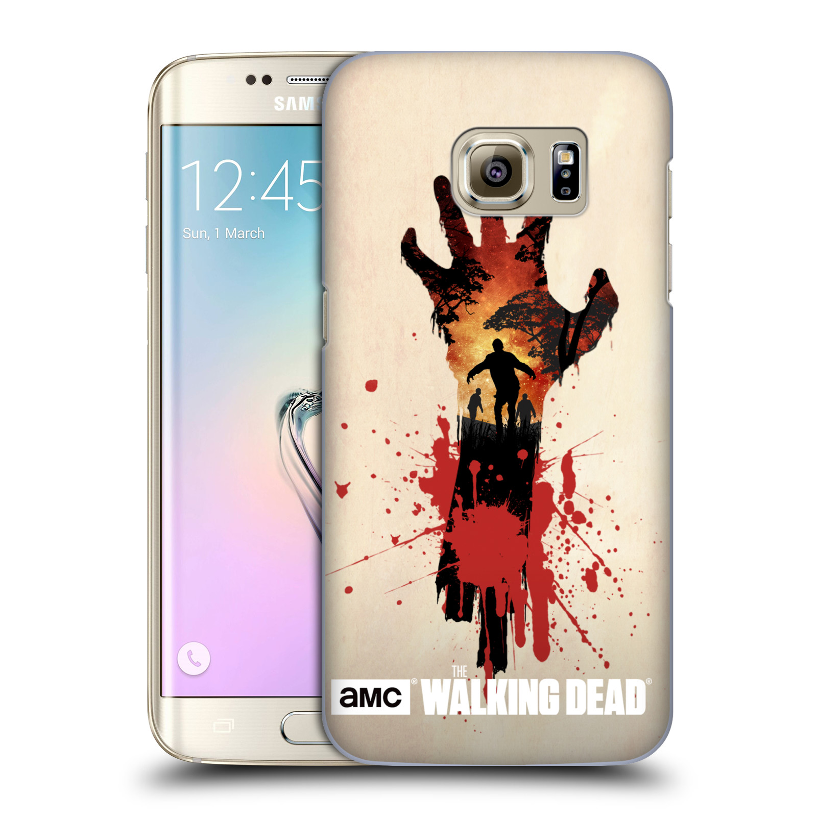 Plastové pouzdro na mobil Samsung Galaxy S7 Edge HEAD CASE Živí mrtví - Ruka