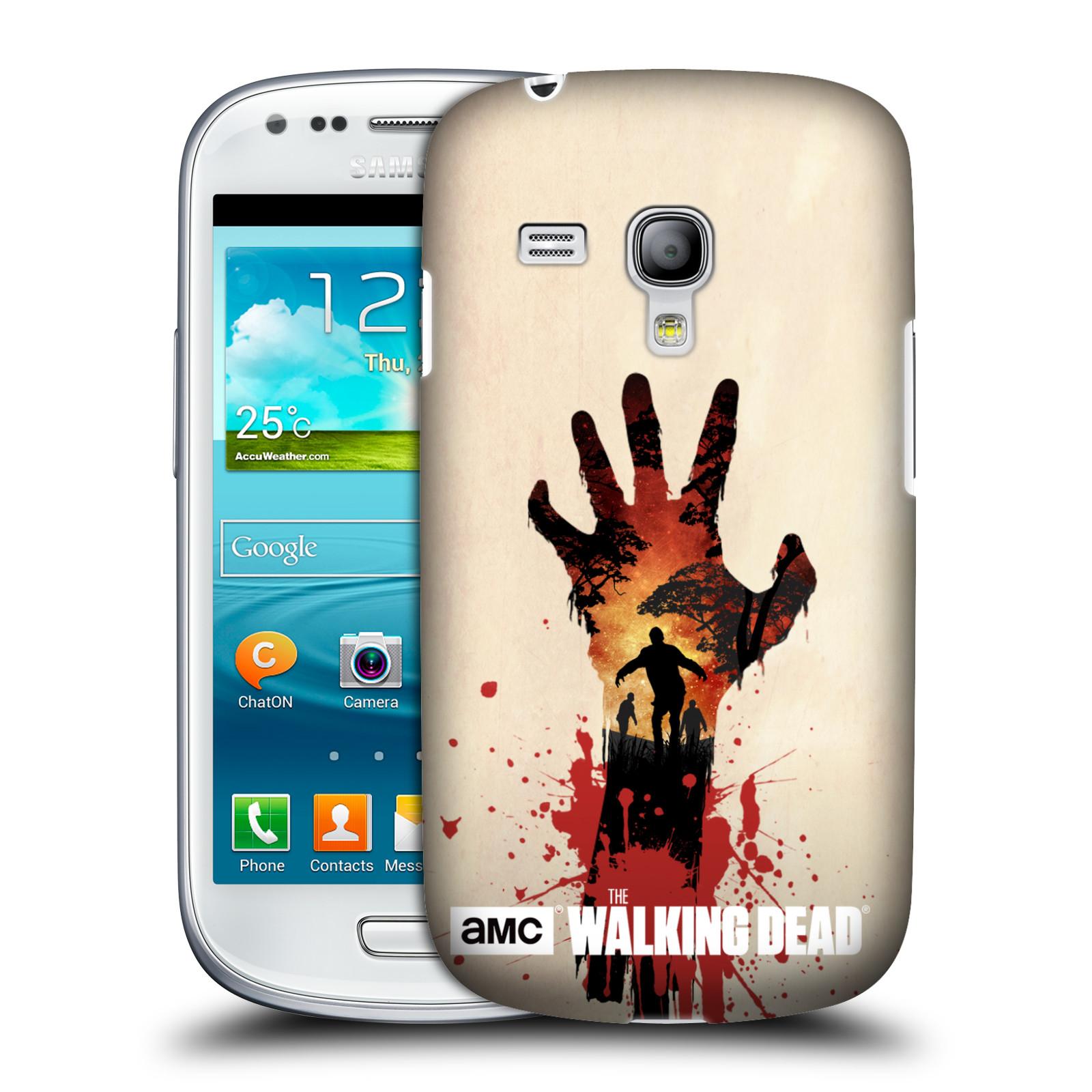 Plastové pouzdro na mobil Samsung Galaxy S III Mini VE HEAD CASE Živí mrtví - Ruka (Kryt či obal na mobilní telefon s licencovaným motivem Živí mrtví / The Walking Dead pro Samsung Galaxy S3 Mini VE GT-i8200)