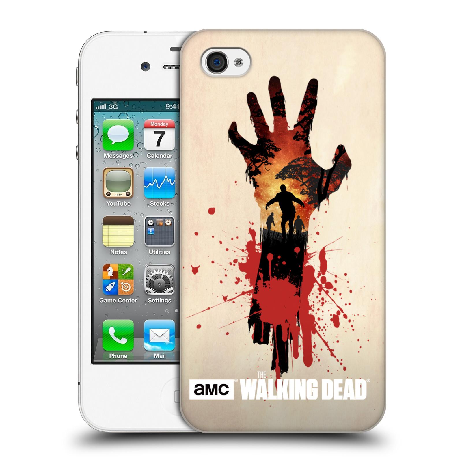 Plastové pouzdro na mobil Apple iPhone 4 a 4S HEAD CASE Živí mrtví - Ruka