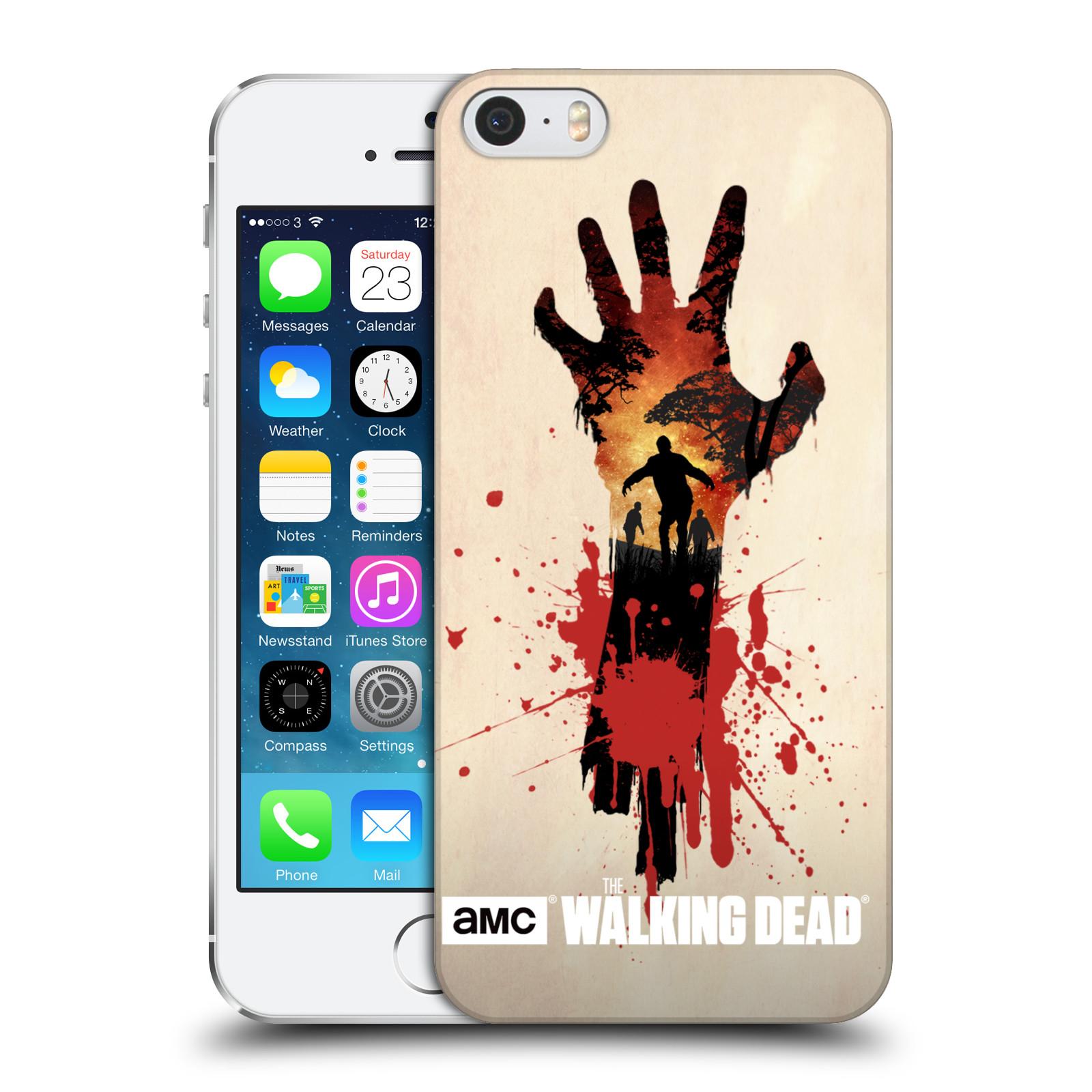 Plastové pouzdro na mobil Apple iPhone SE, 5 a 5S HEAD CASE Živí mrtví - Ruka