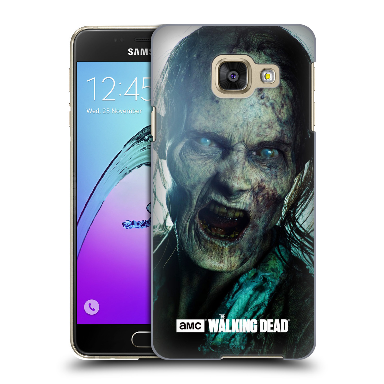 Plastové pouzdro na mobil Samsung Galaxy A3 (2016) HEAD CASE The Walking Dead - Walker Bite