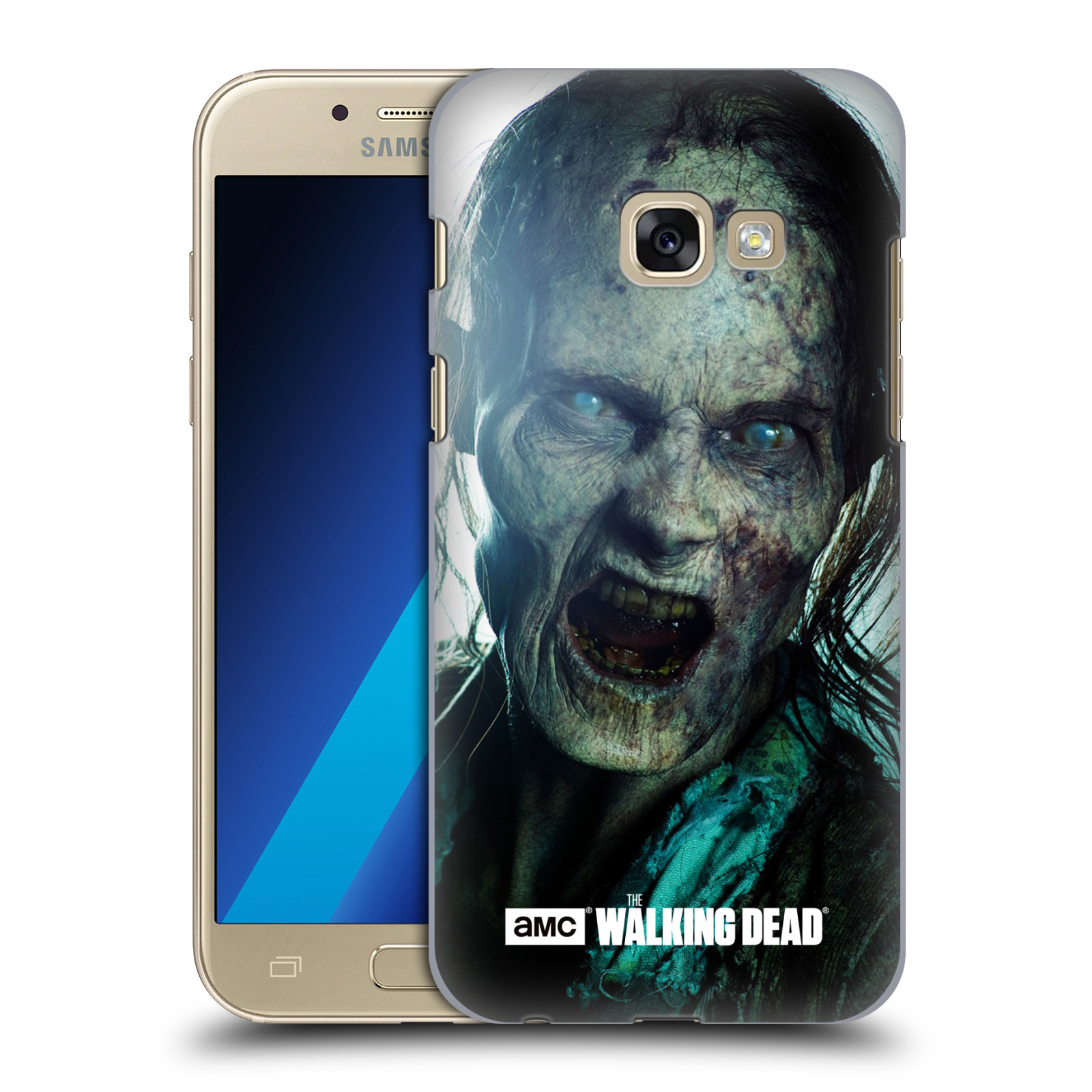 Plastové pouzdro na mobil Samsung Galaxy A3 (2017) HEAD CASE The Walking Dead - Walker Bite