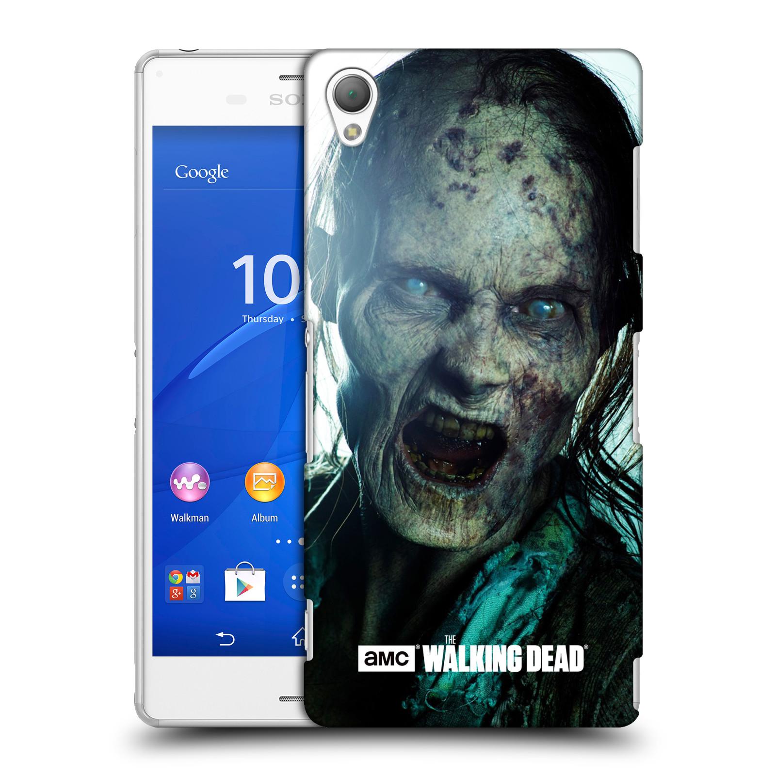 Plastové pouzdro na mobil Sony Xperia Z3 D6603 HEAD CASE The Walking Dead - Walker Bite