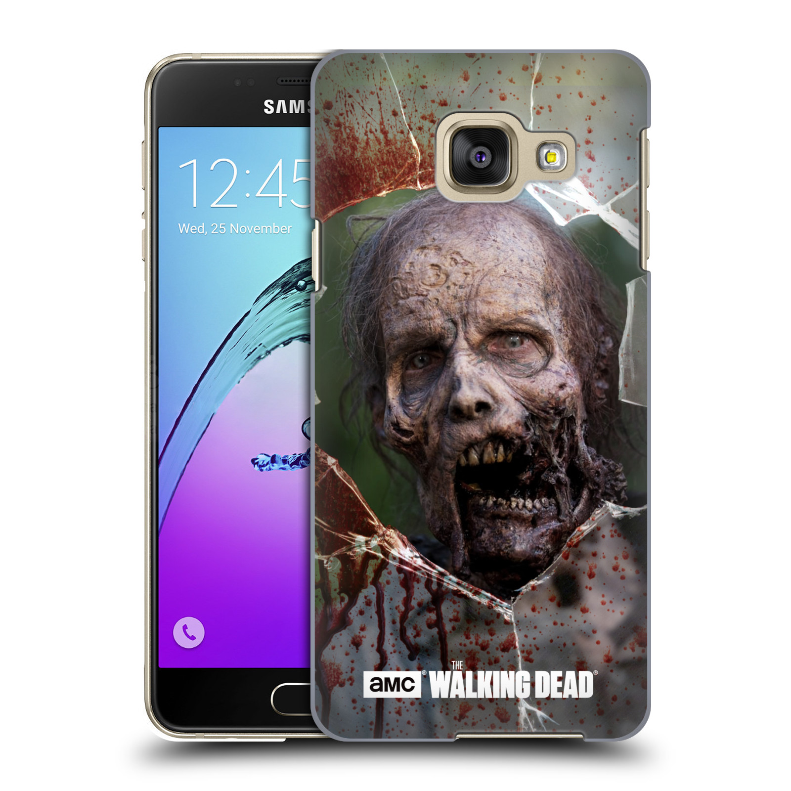 Plastové pouzdro na mobil Samsung Galaxy A3 (2016) HEAD CASE The Walking Dead - Walkers Jaw